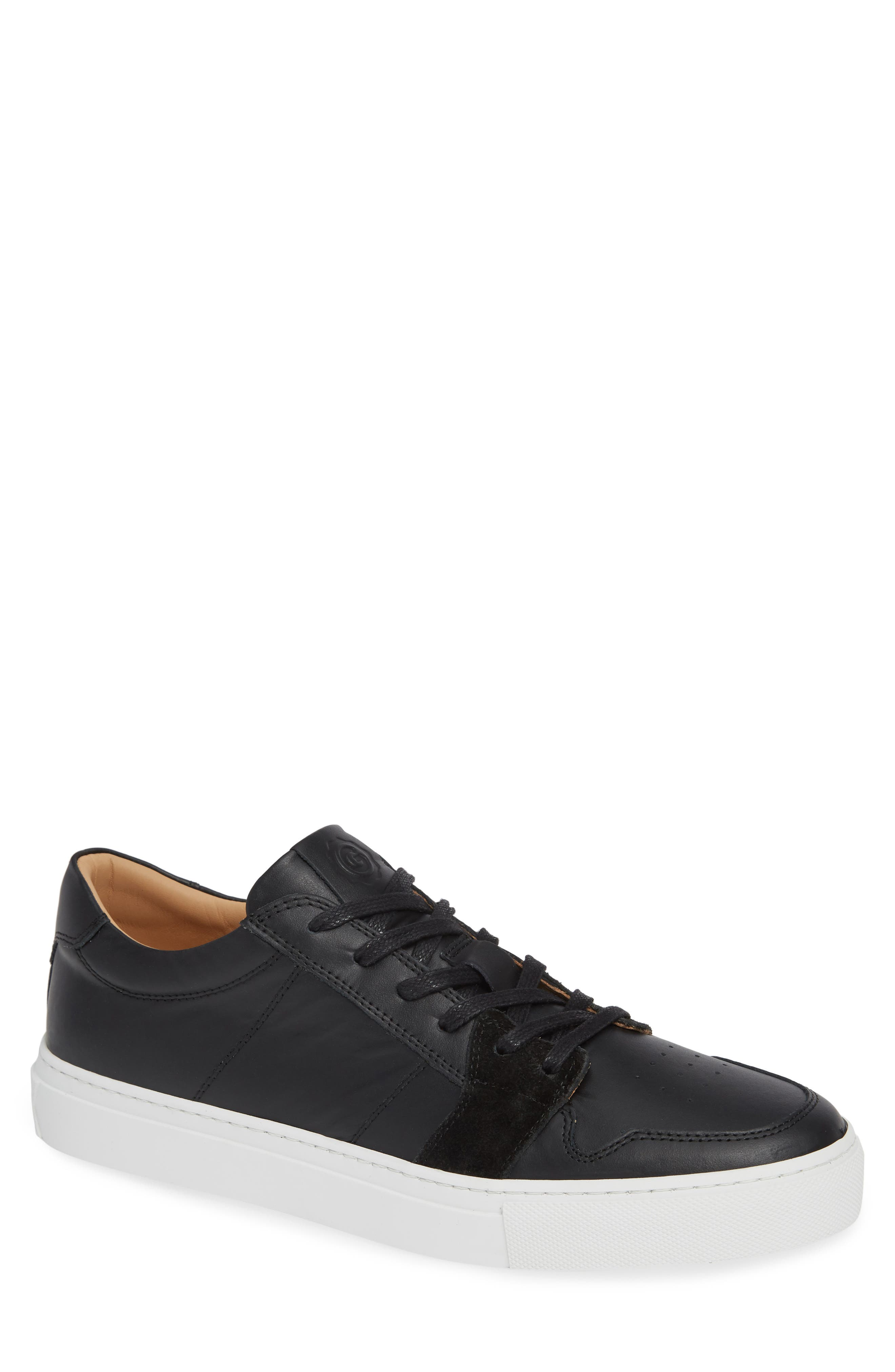 Nick Wooster x GREATS Court Low Top Sneaker,                             Main thumbnail 1, color,                             BLACK