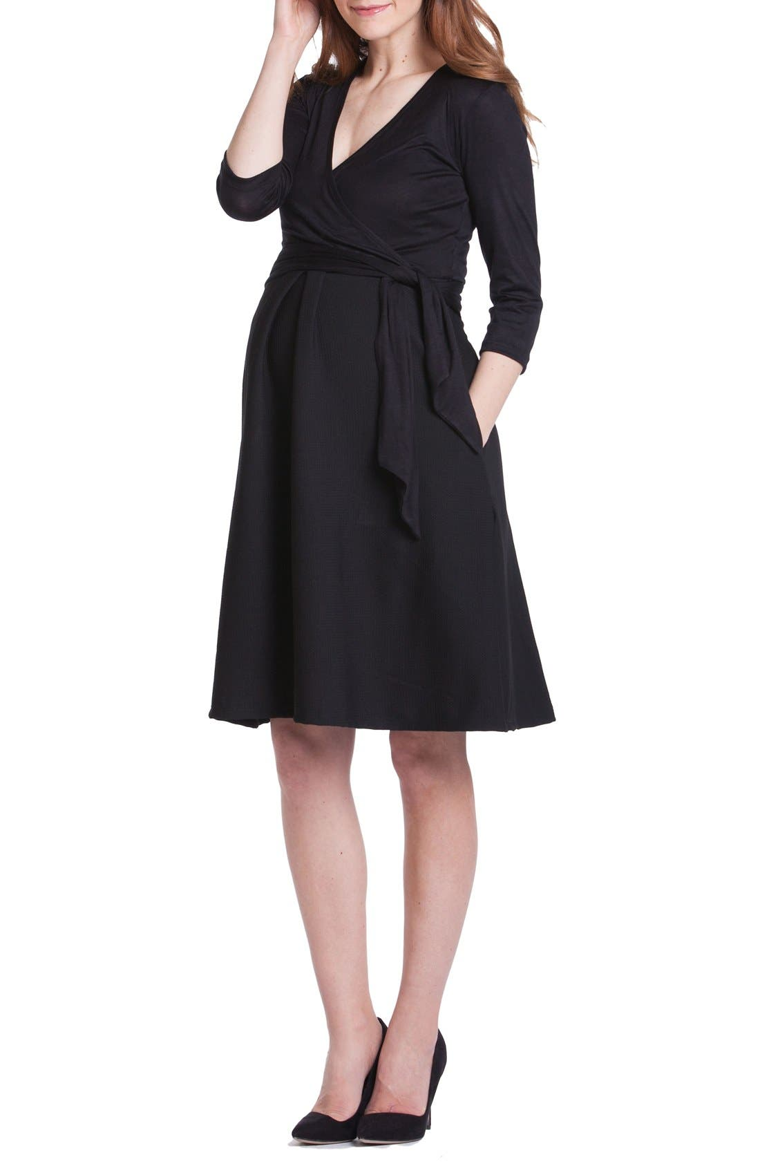 Abby Maternity/Nursing Dress,                         Main,                         color, 001