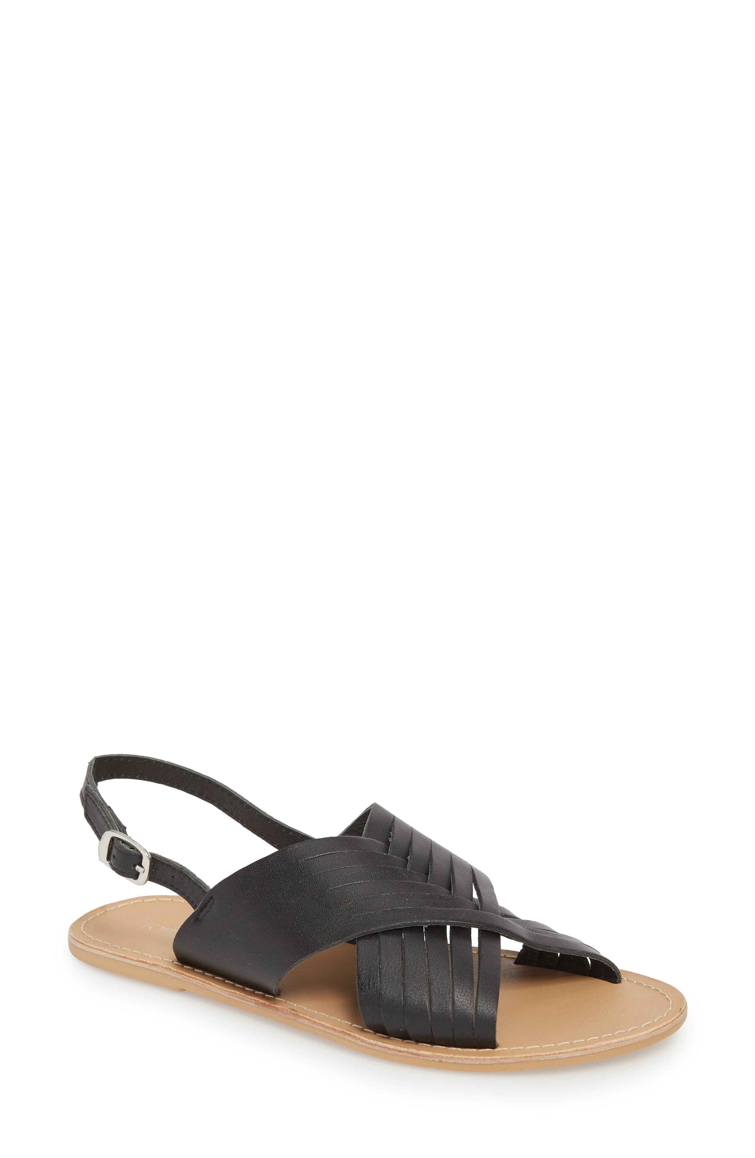 Hottie Cross Strap Flat Sandal,                         Main,                         color,