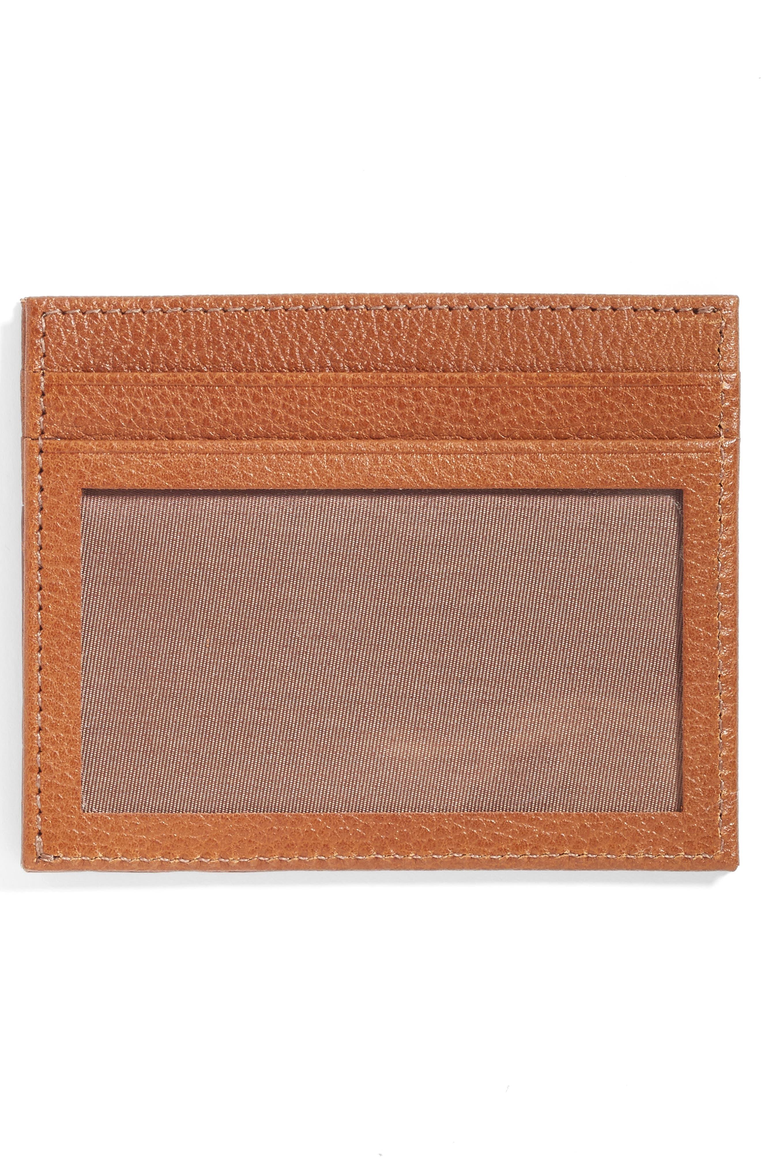 Executive Leather Card Case,                             Alternate thumbnail 6, color,
