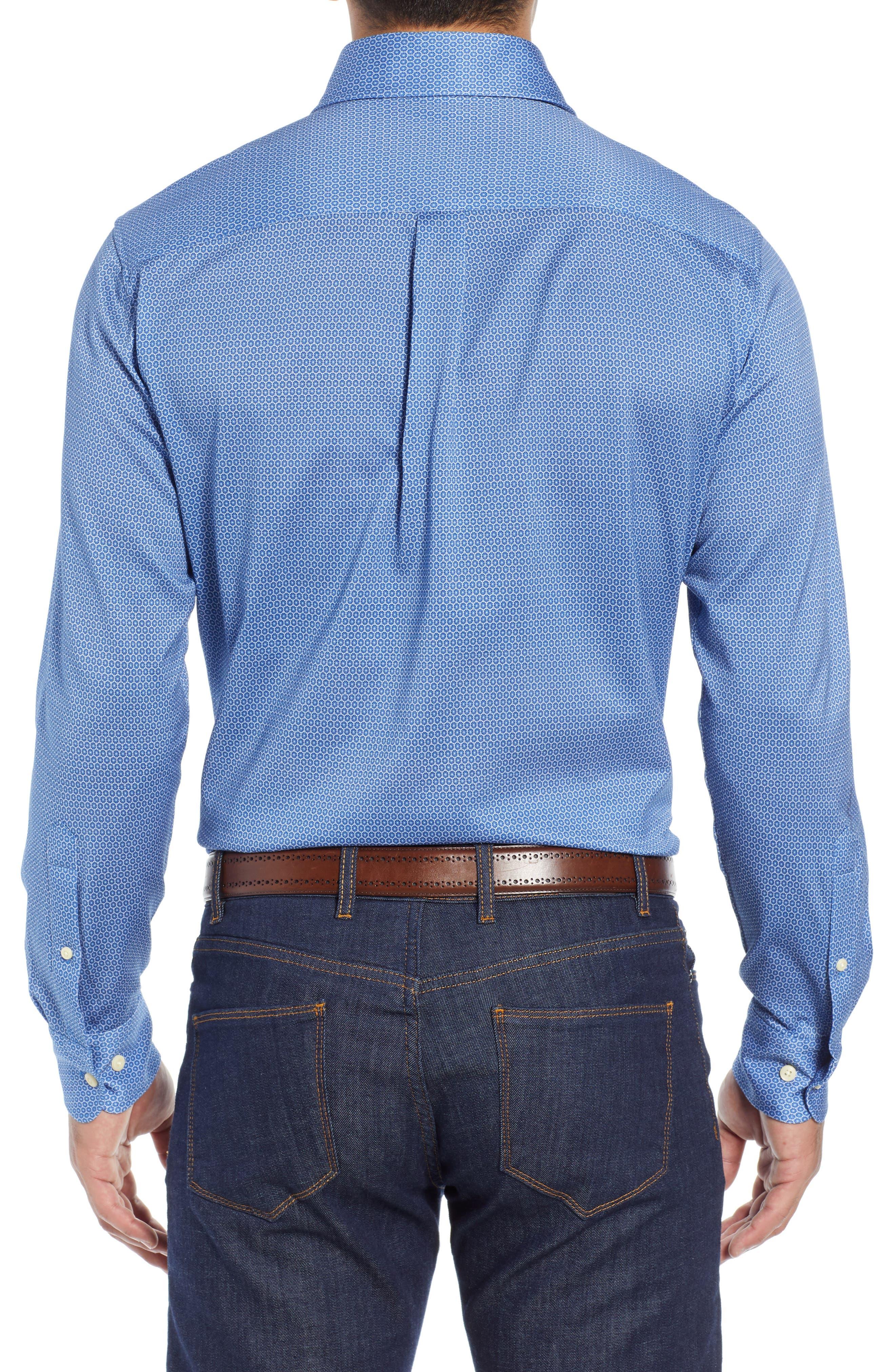 Schwinn Sport Shirt,                             Alternate thumbnail 3, color,                             PLAZA BLUE
