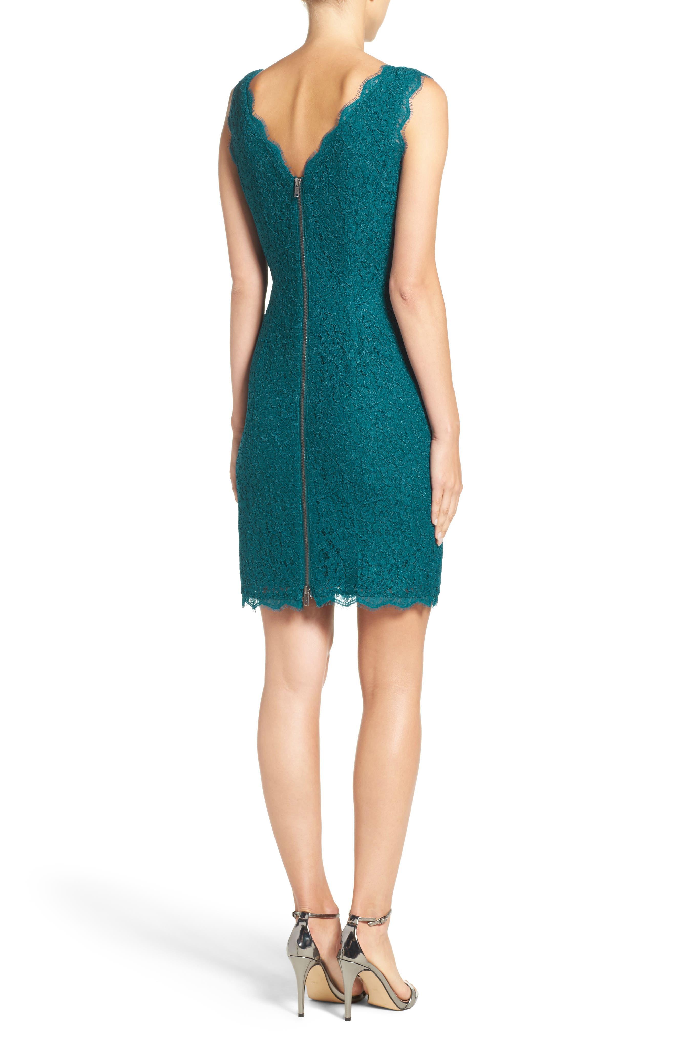 Boatneck Lace Sheath Dress,                             Alternate thumbnail 52, color,