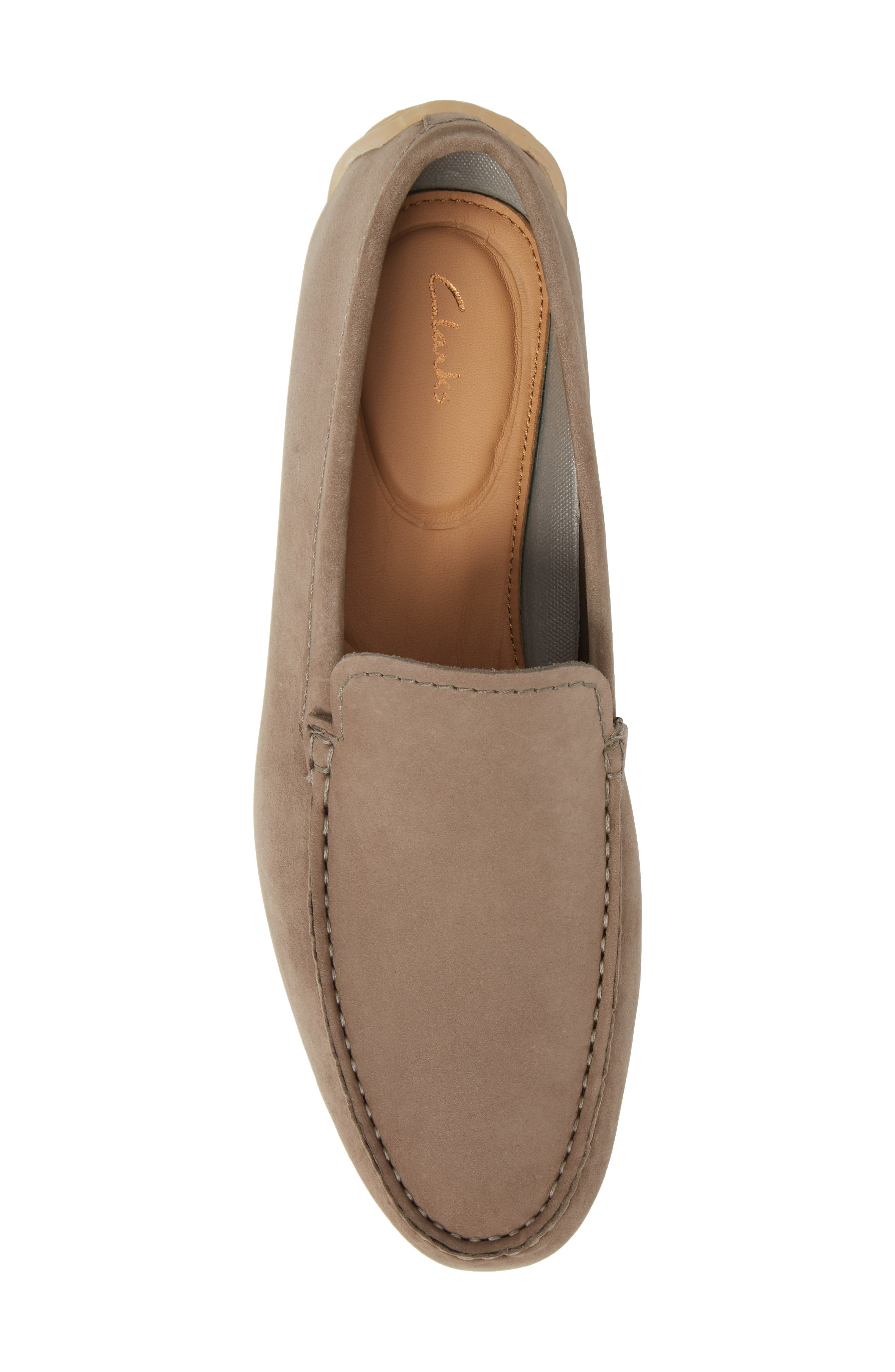 Clarks<sup>®</sup> Reazor Edge Driving Moccasin,                             Alternate thumbnail 5, color,                             SAGE NUBUCK