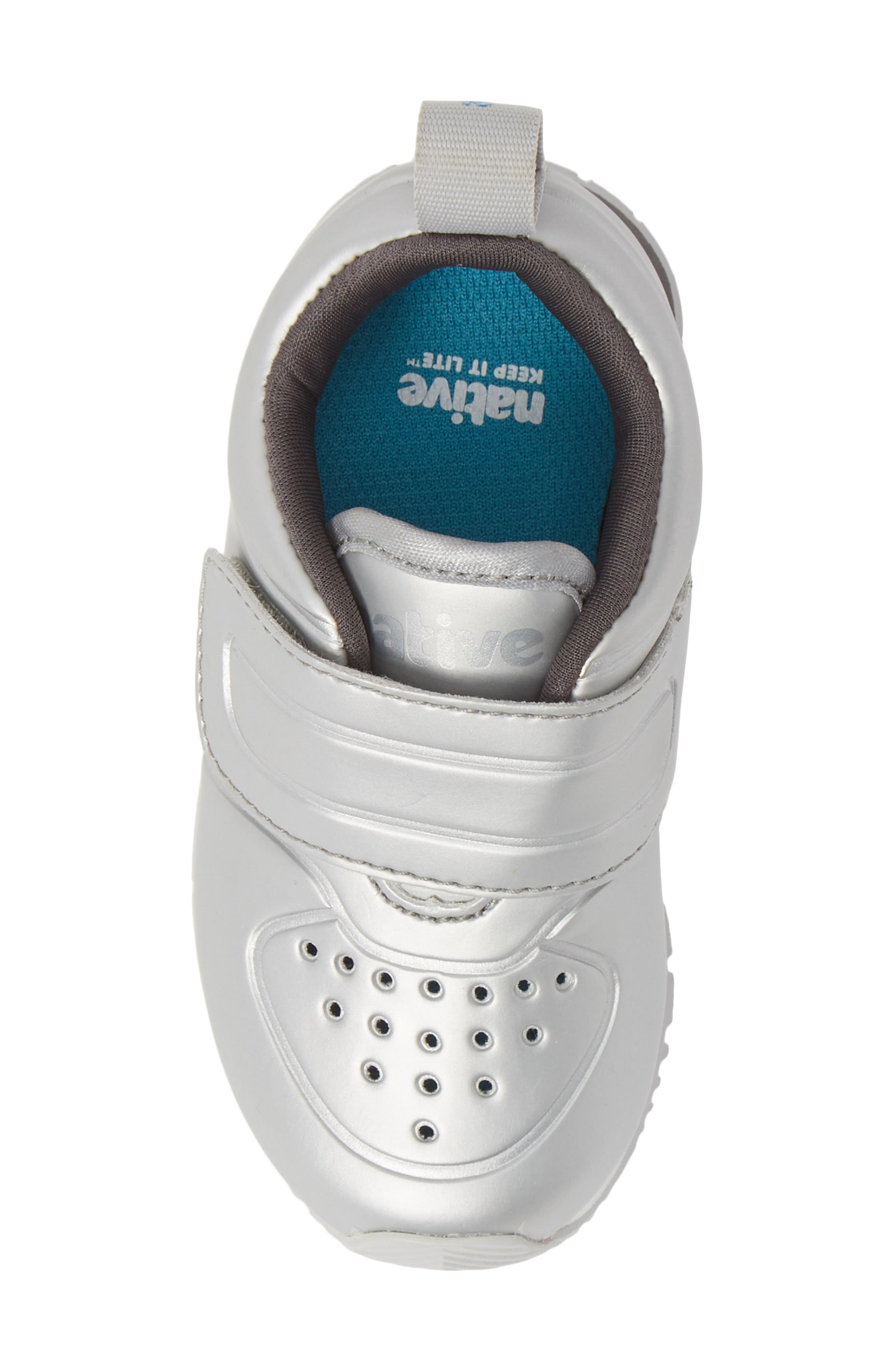 Cornell Perforated Metallic Sneaker,                             Alternate thumbnail 5, color,                             SILVER/ WHITE/ DUBLIN GREY
