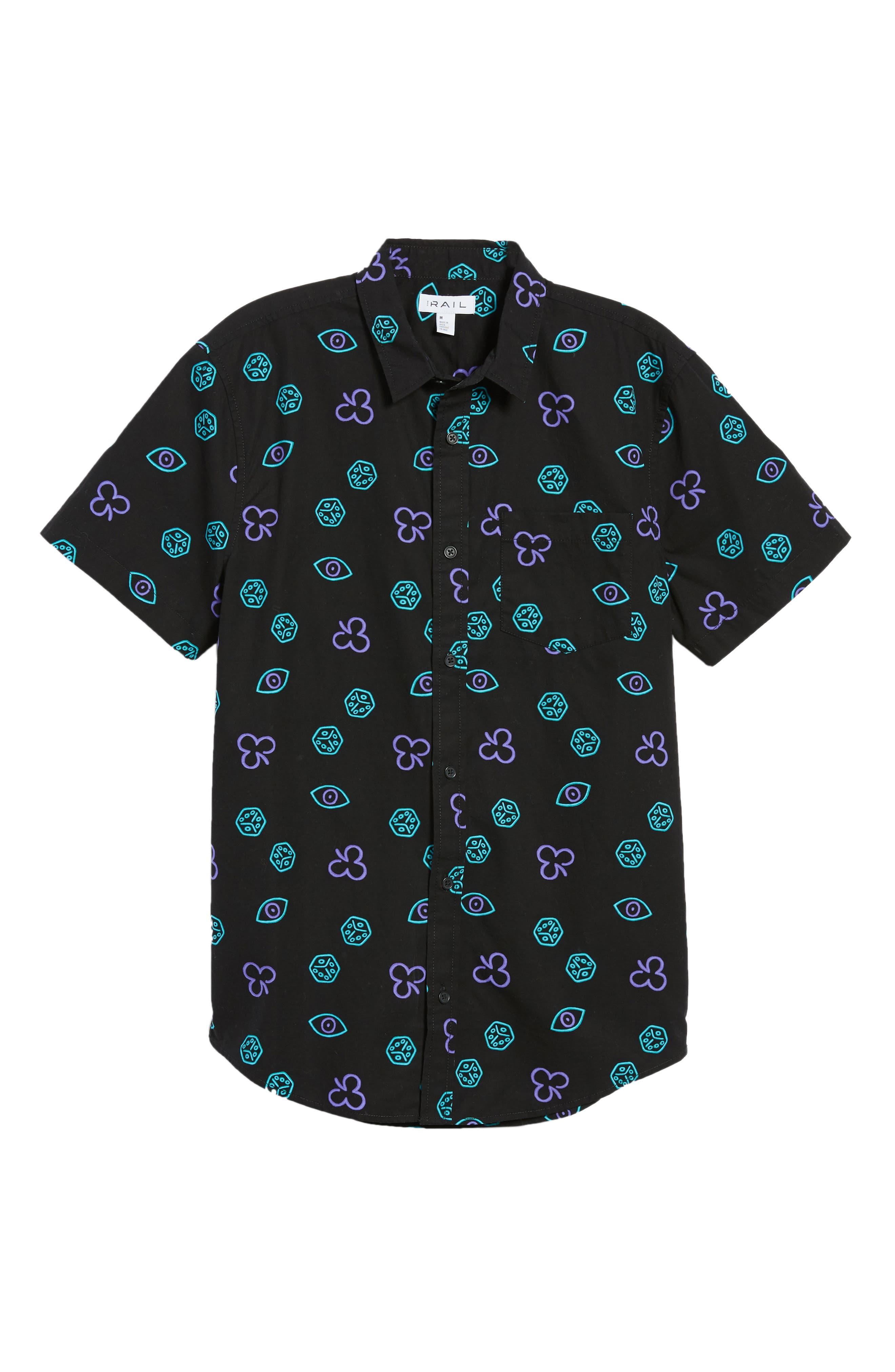 Short Sleeve Print Poplin Shirt,                             Alternate thumbnail 27, color,