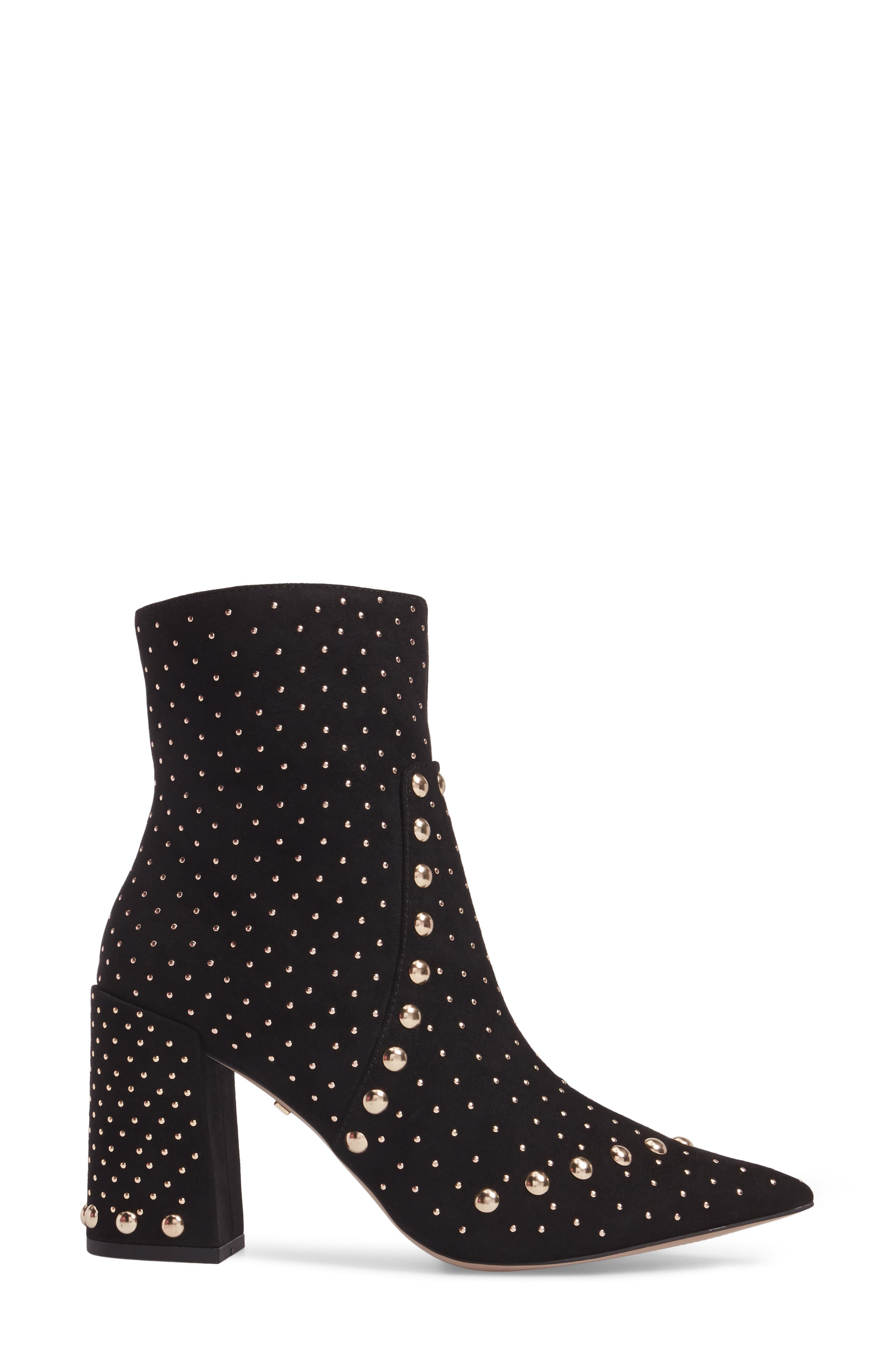 Studded Bootie,                             Alternate thumbnail 3, color,                             001