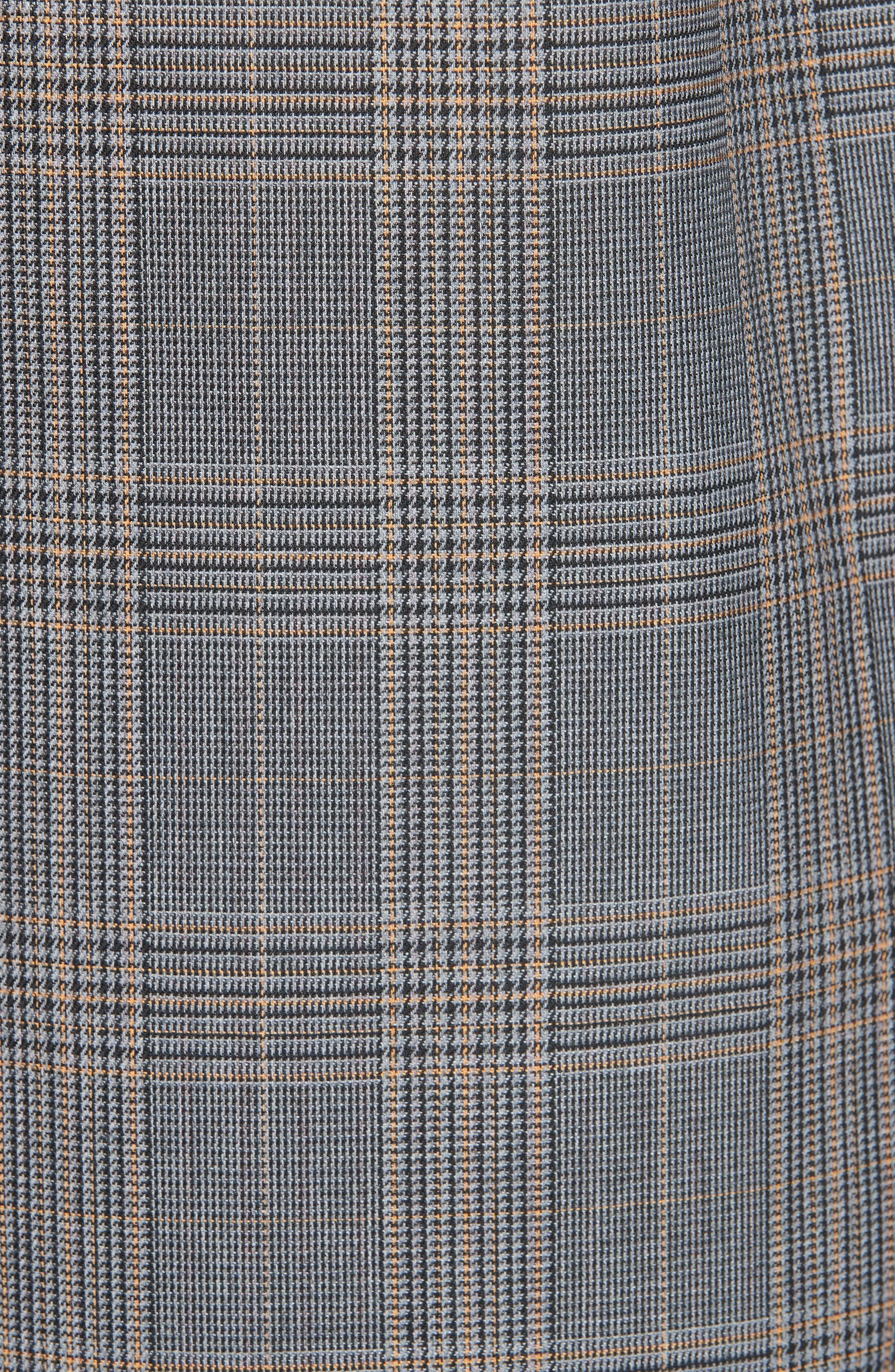 Long Plaid Coat,                             Alternate thumbnail 6, color,                             033