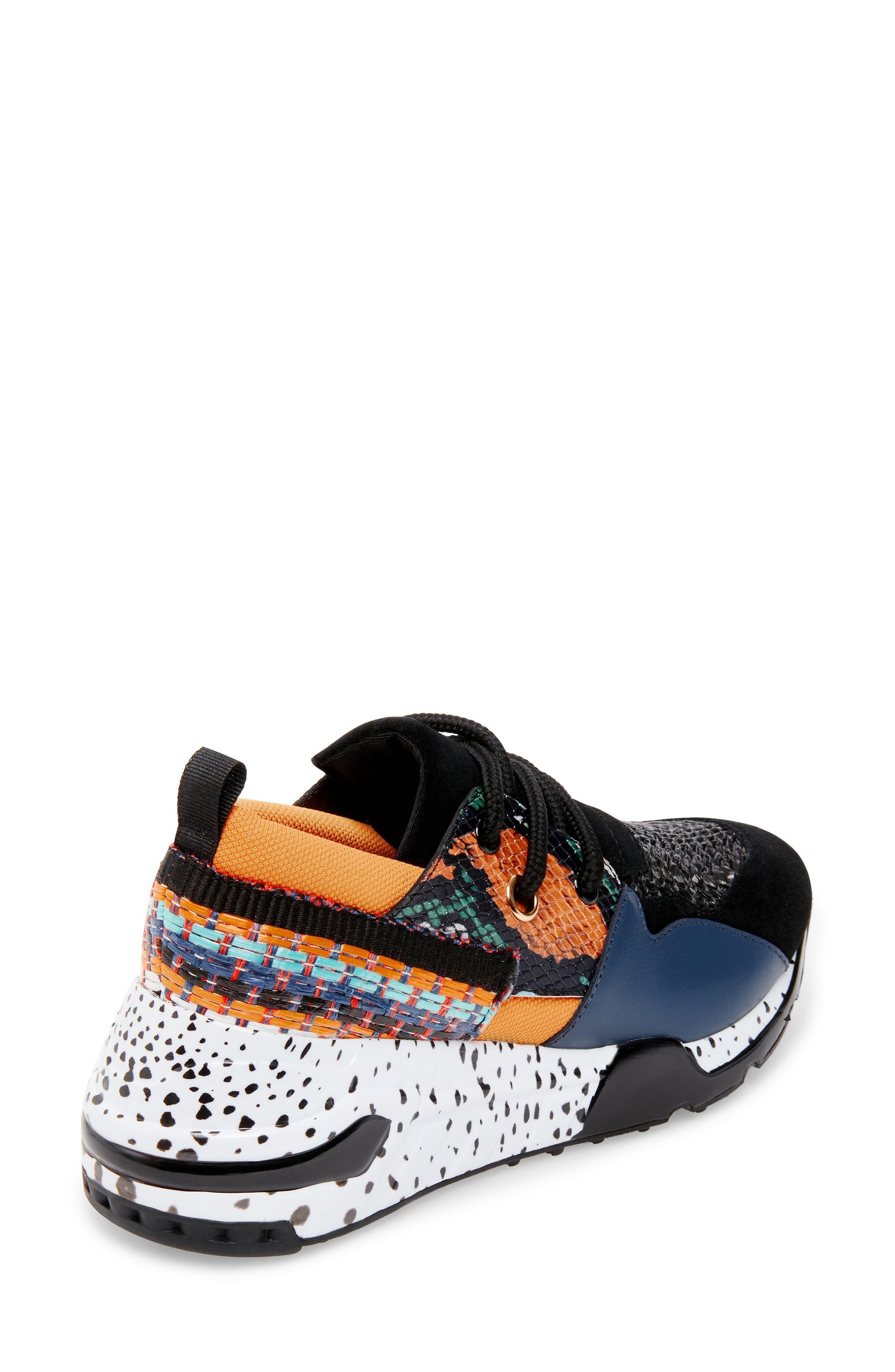 Cliff Sneaker,                             Alternate thumbnail 2, color,                             ORANGE MULTICOLOR