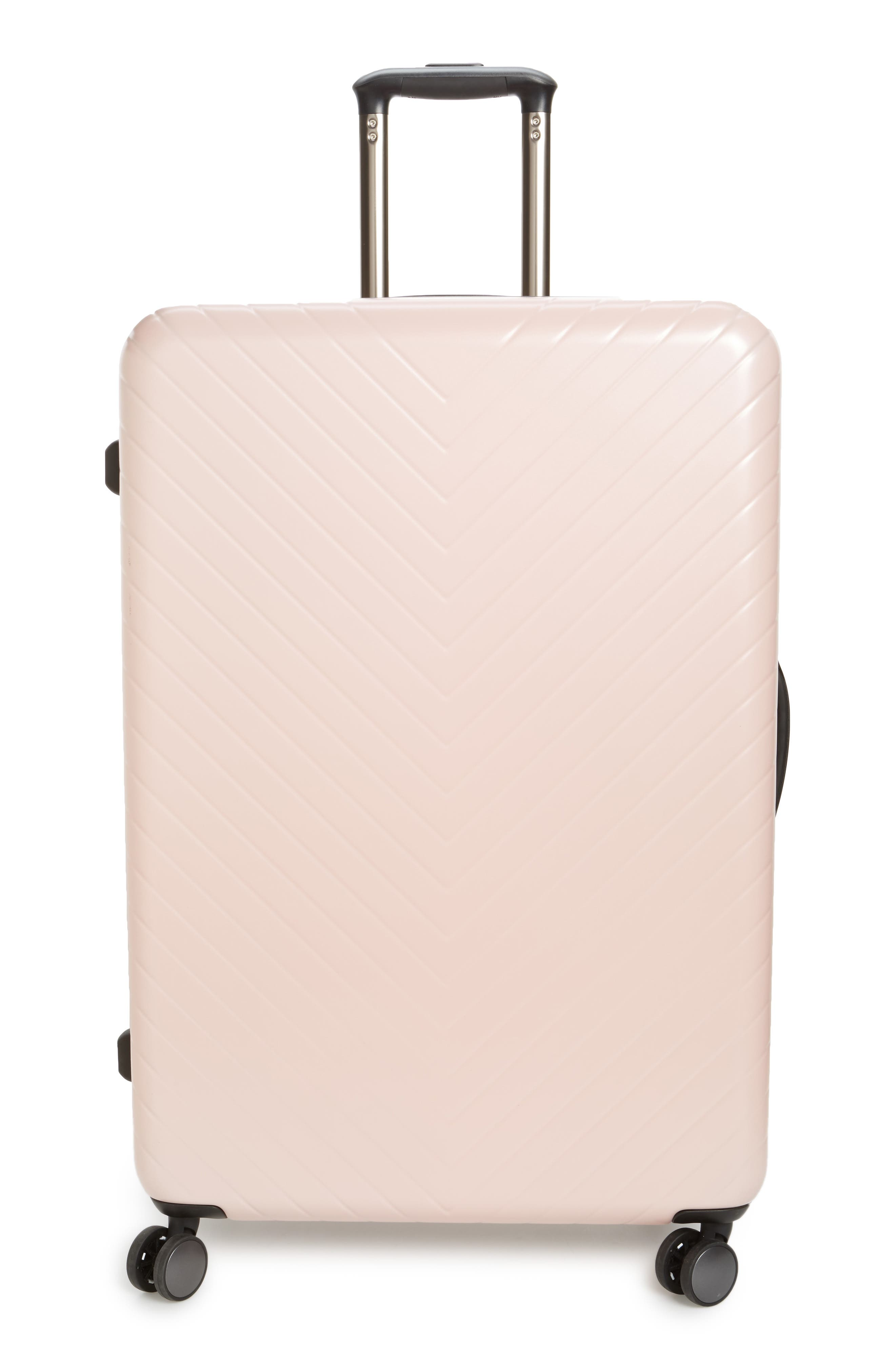 Chevron 29-Inch Spinner Suitcase,                             Main thumbnail 1, color,                             PINK HERO