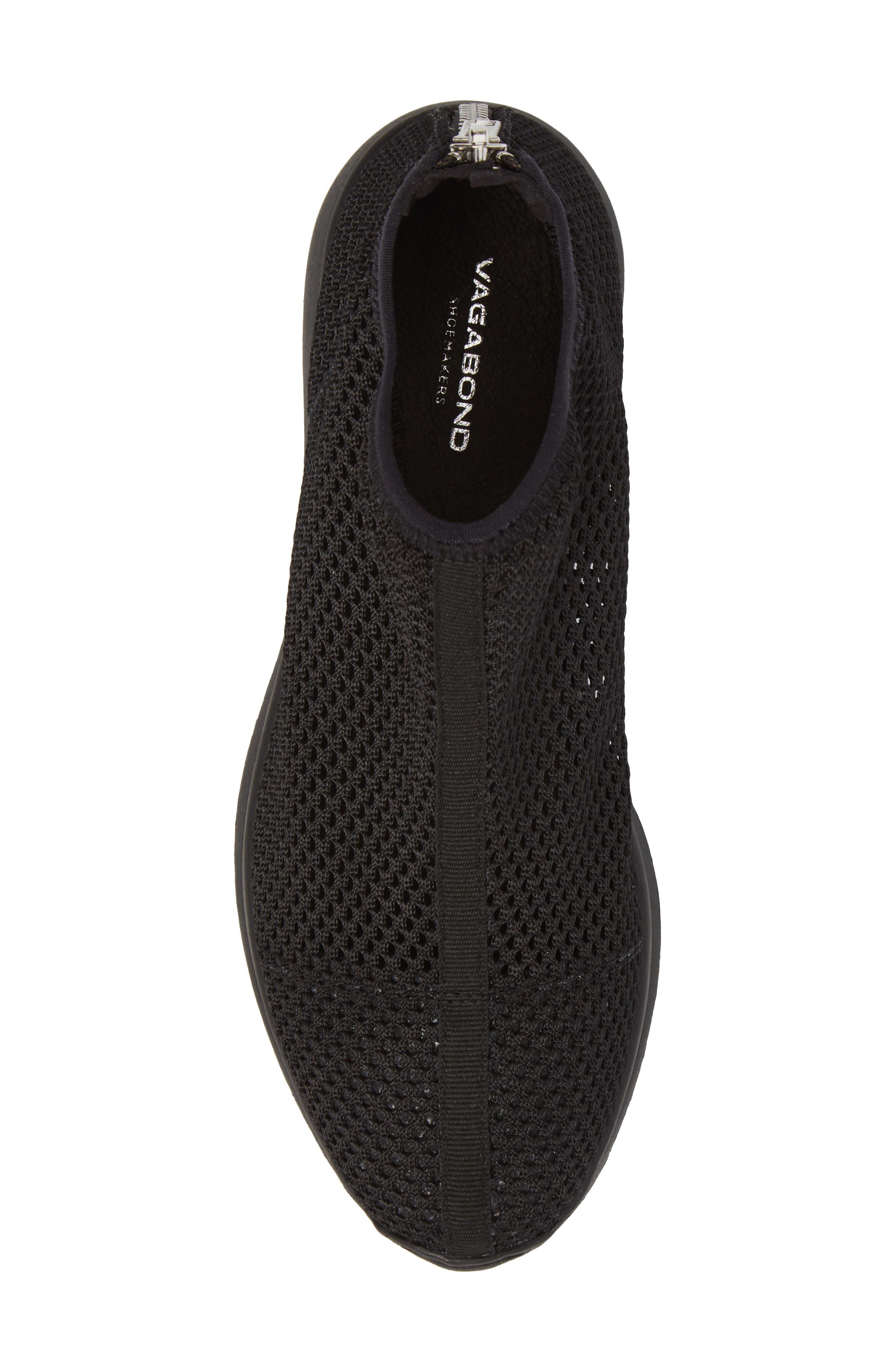 Cintia Sneaker,                             Alternate thumbnail 5, color,                             BLACK FABRIC