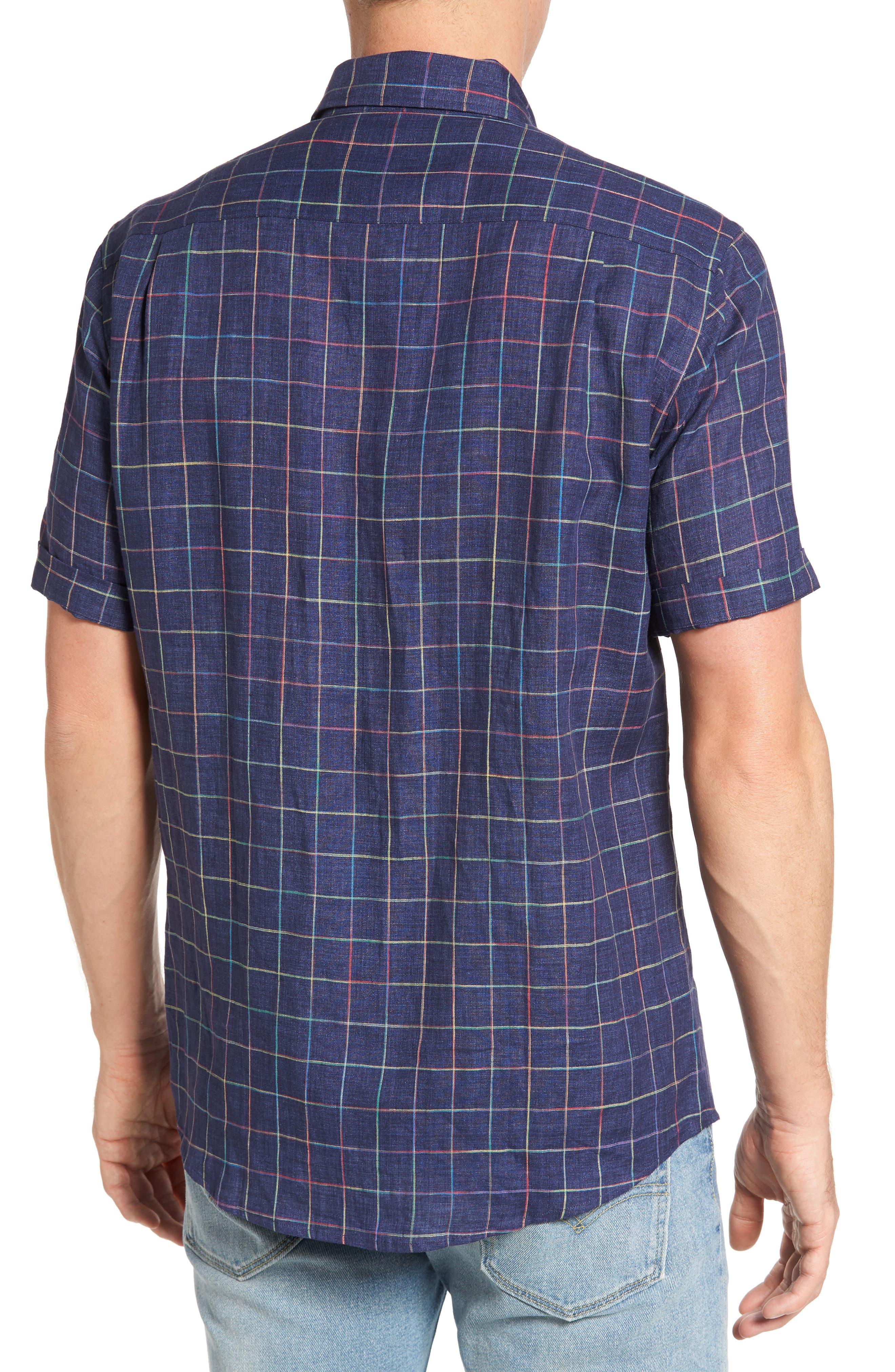 Savill Linen Blend Sport Shirt,                             Alternate thumbnail 2, color,                             410