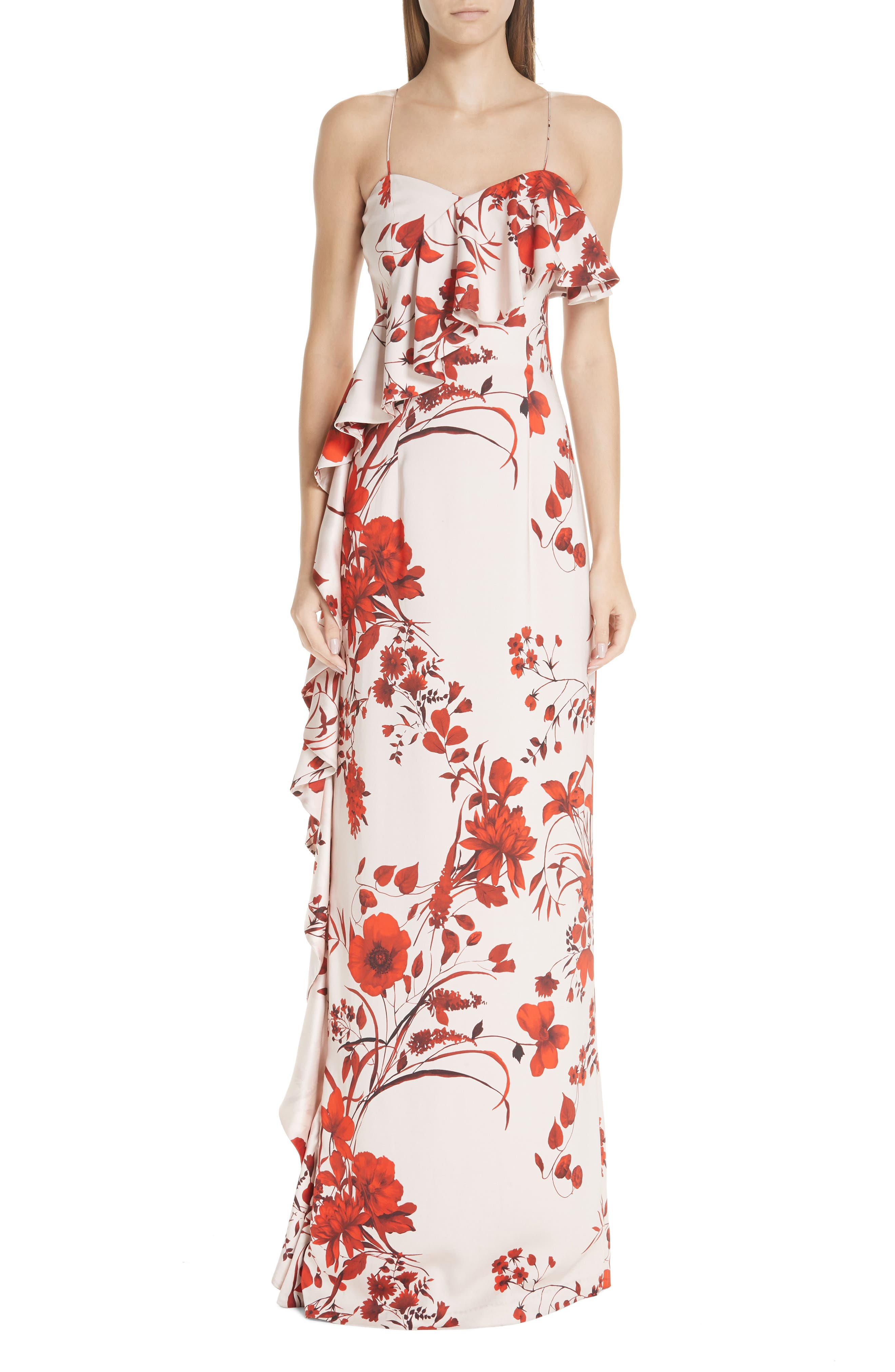 Sachin & Babi Putri Floral Print Gown, Pink
