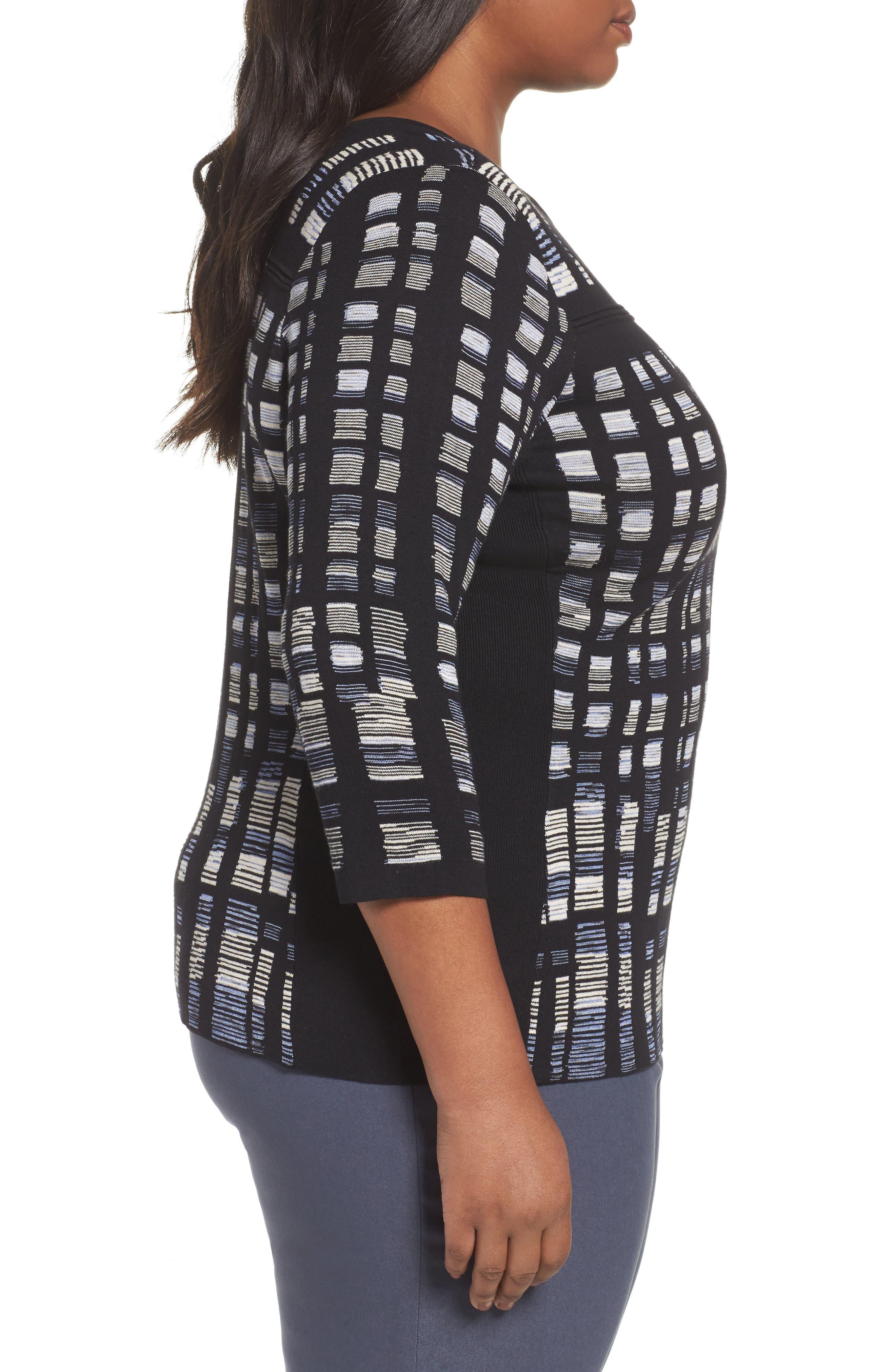 Crystal Cove Sweater,                             Alternate thumbnail 3, color,                             BLACK MULTI
