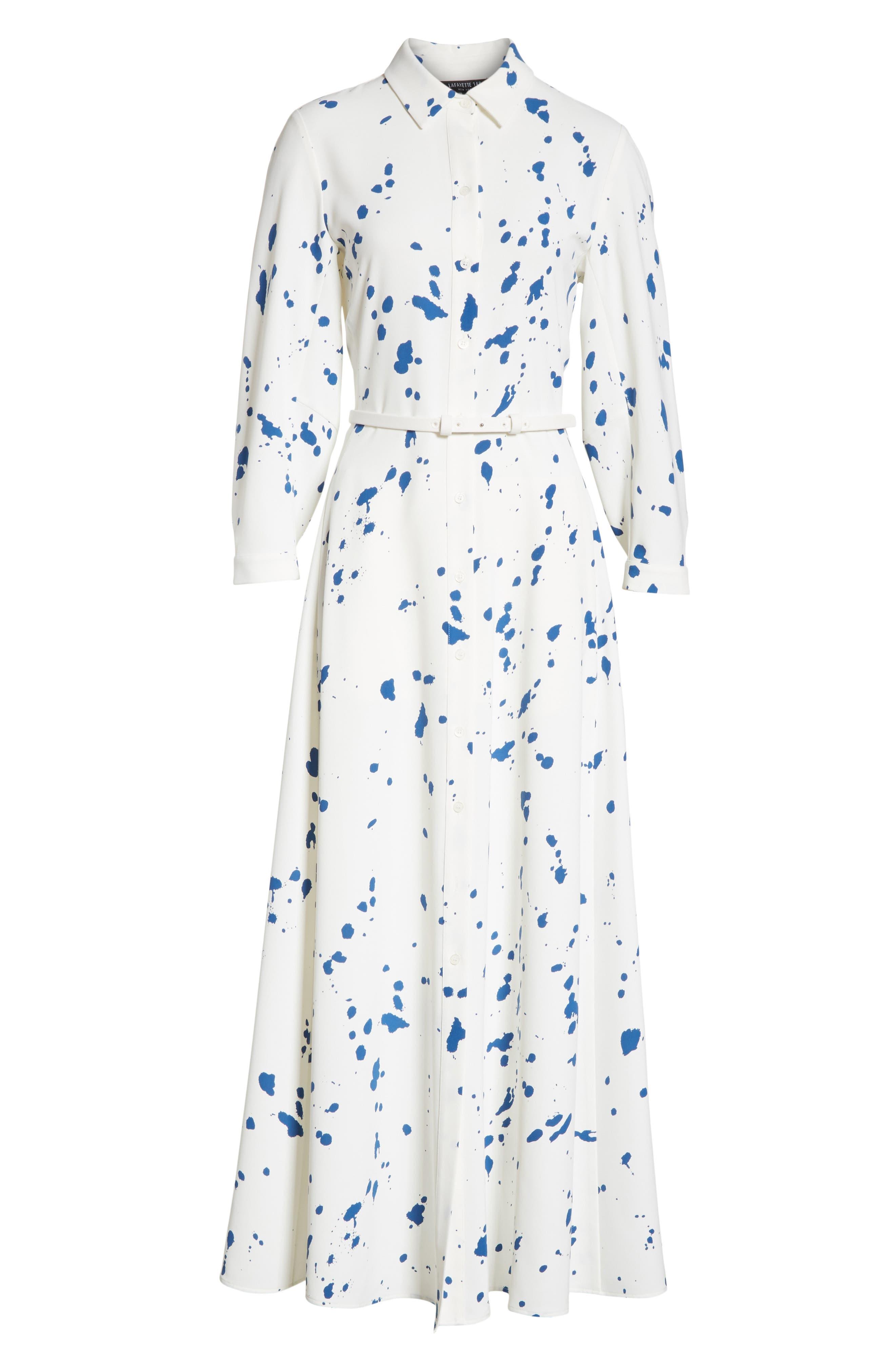 Lydia Stripe Dress,                             Alternate thumbnail 6, color,                             438