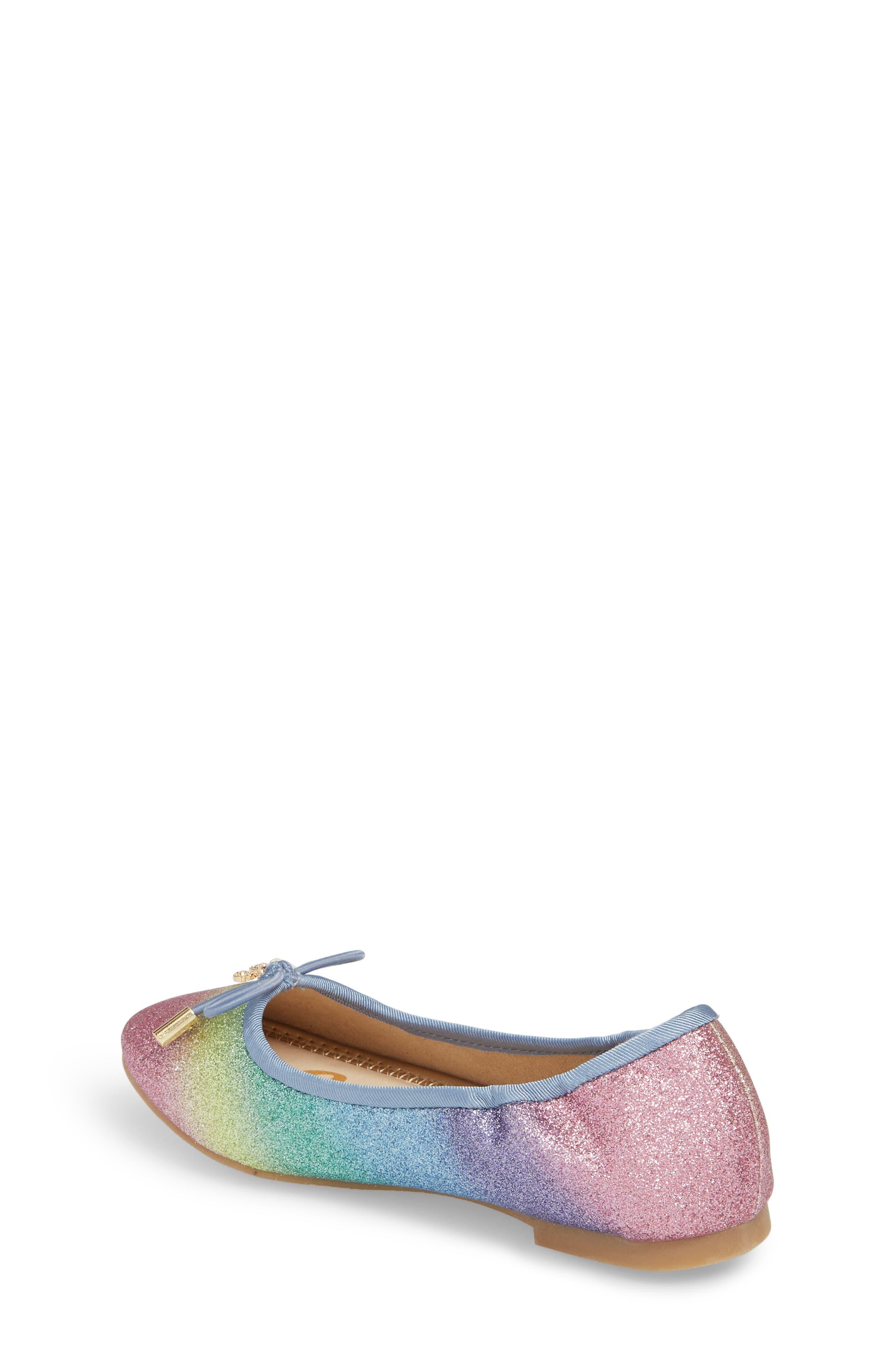 Felicia Glitter Ballet Flat,                             Alternate thumbnail 2, color,                             RAINBOW OMBRE