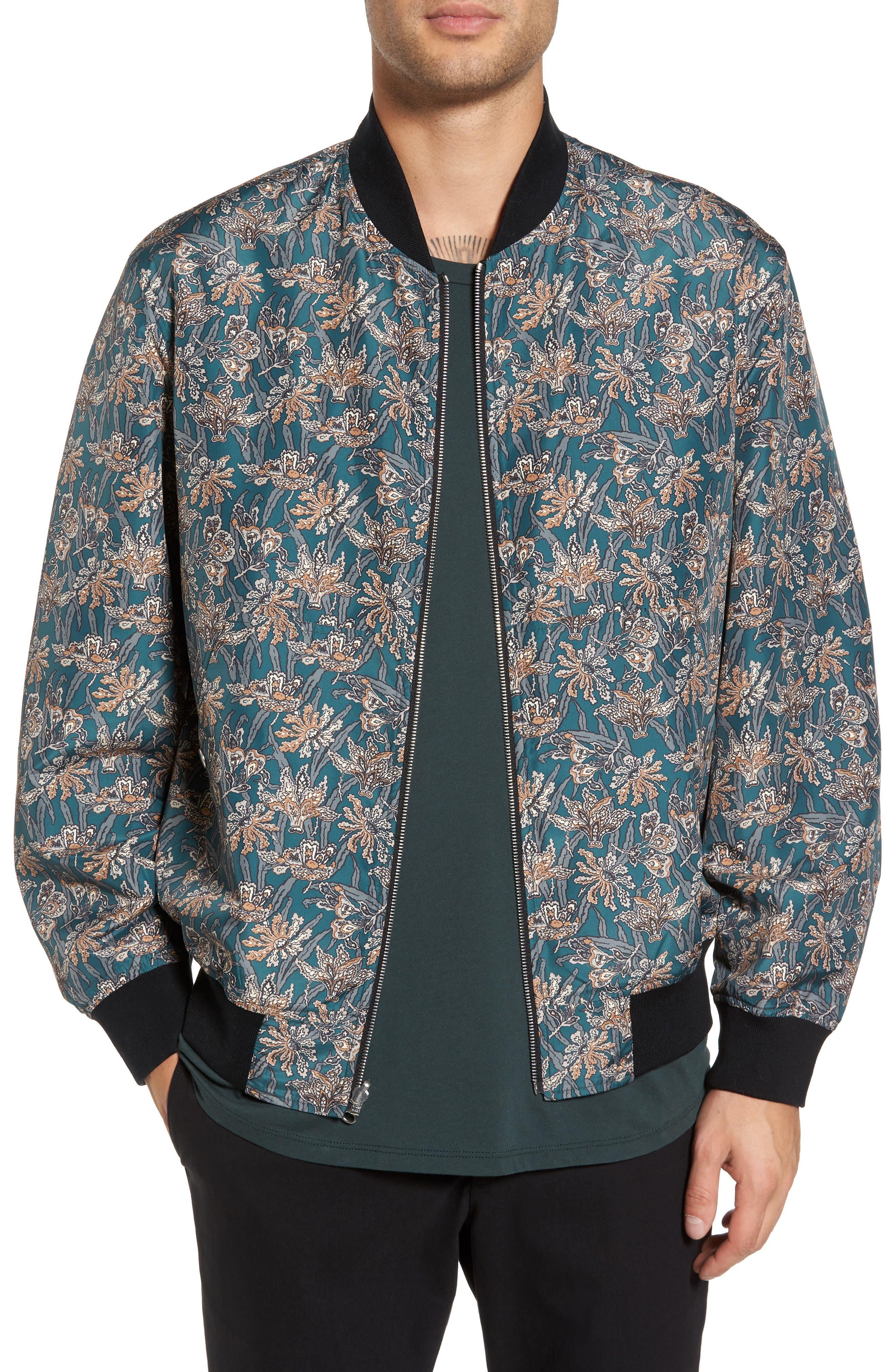 Basma Reversible Bomber Jacket,                         Main,                         color, 015