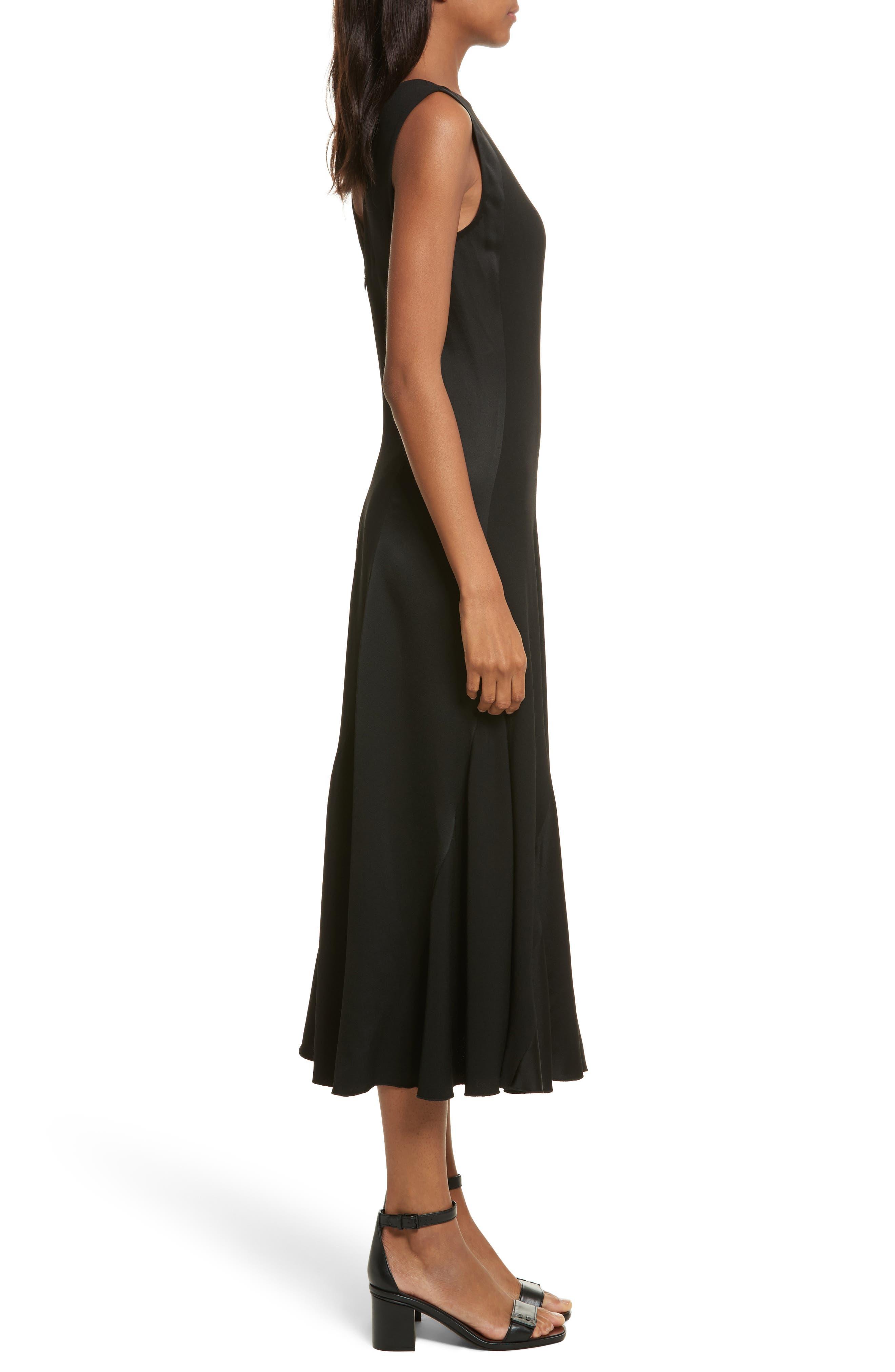 Hailee Sleeveless Midi Dress,                             Alternate thumbnail 3, color,