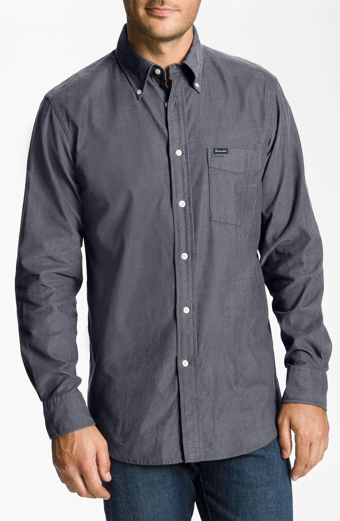 Façonnable Club Fit Corduroy Sport Shirt,                         Main,                         color, 020