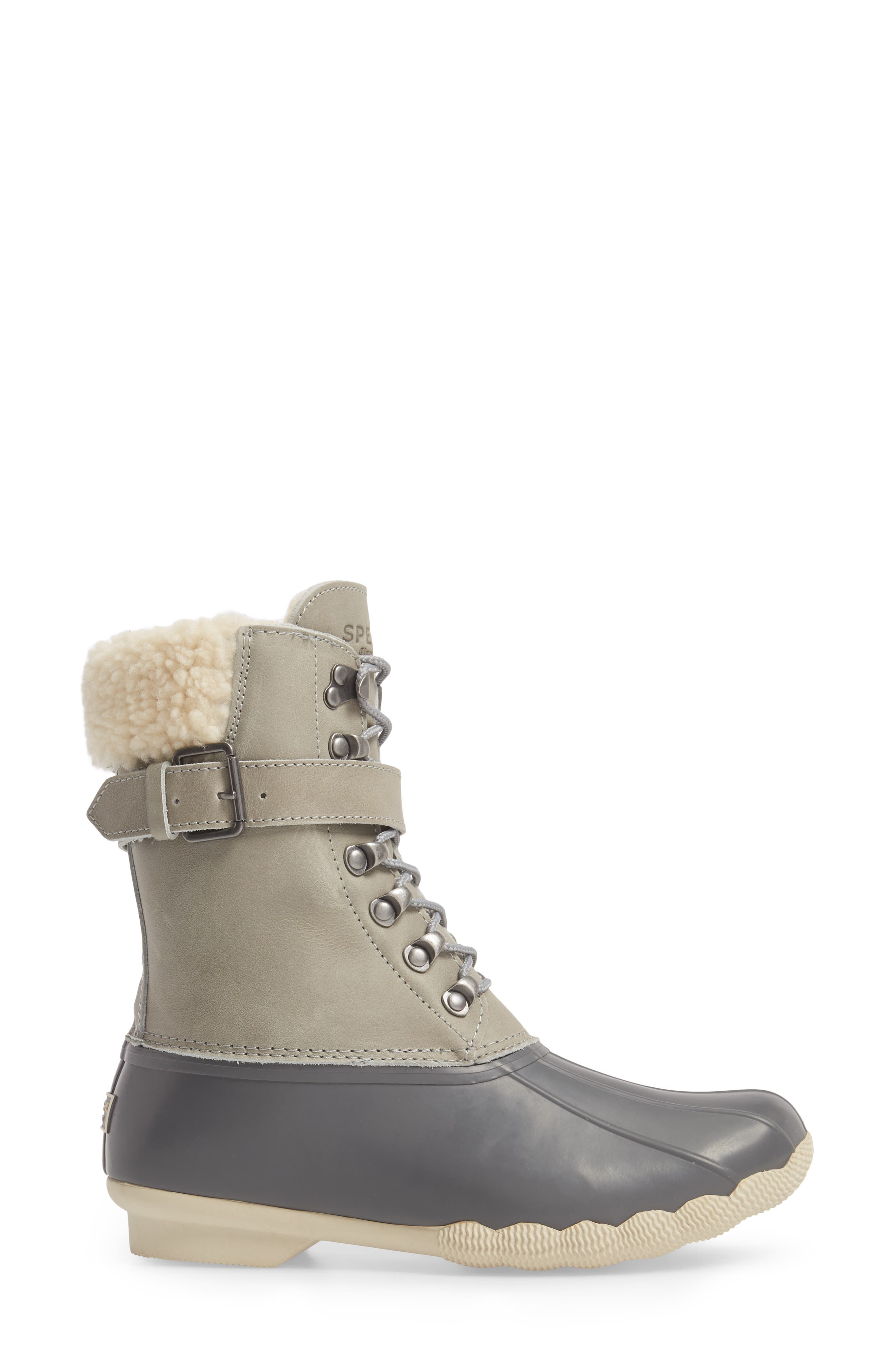 Shearwater Water-Resistant Genuine Shearling Lined Boot,                             Alternate thumbnail 11, color,