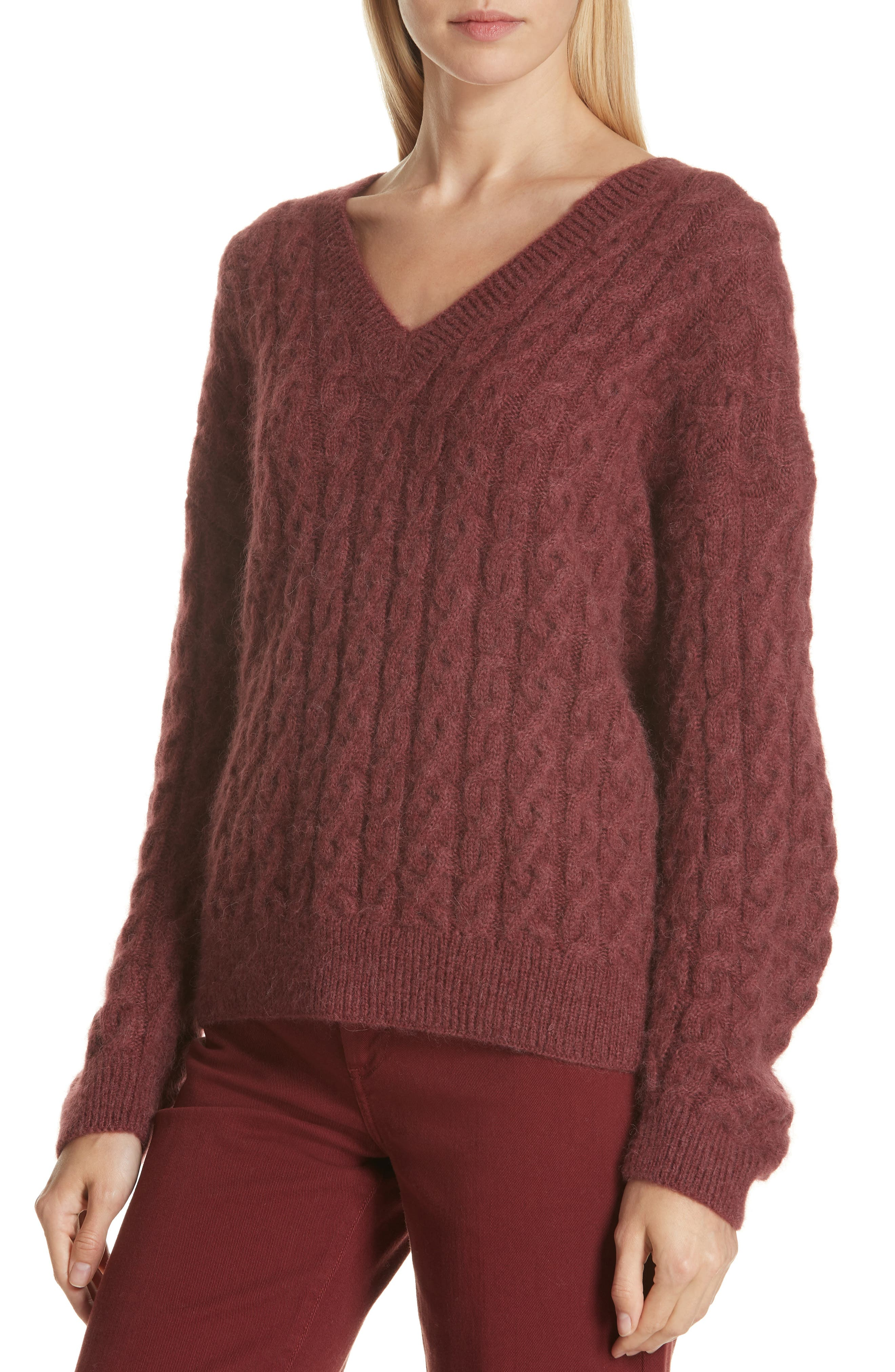 Cable Knit Sweater,                             Alternate thumbnail 4, color,                             ANISE