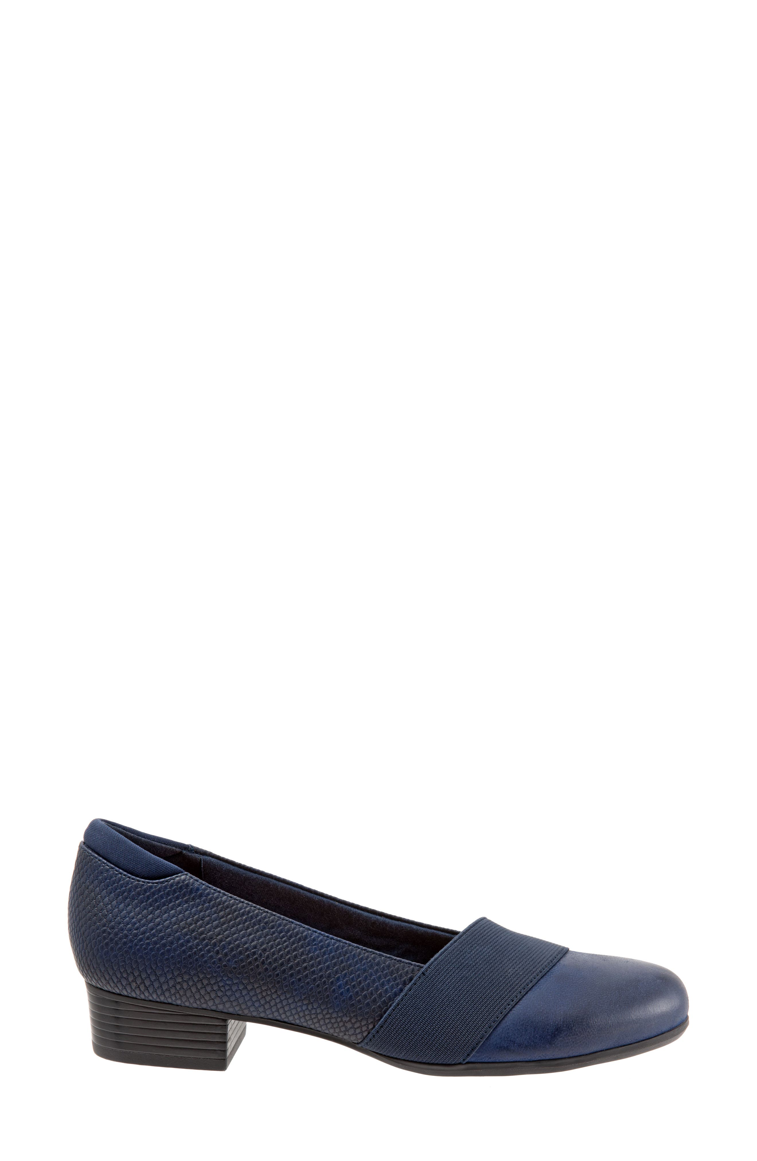 TROTTERS,                             Melinda Loafer,                             Alternate thumbnail 3, color,                             NAVY LEATHER
