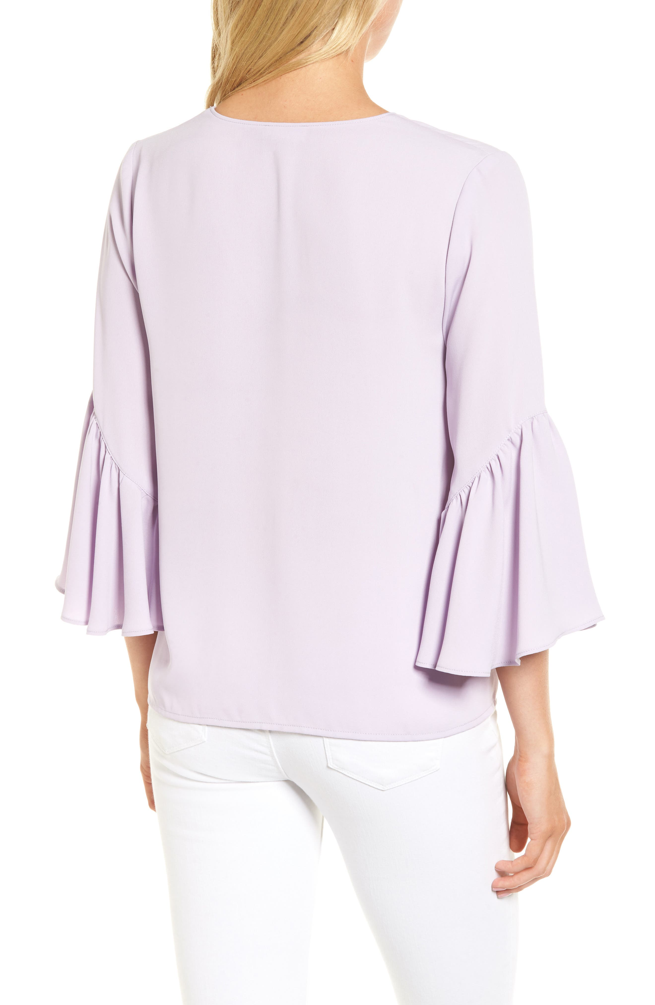 Asymmetrical Bell Sleeve Top,                             Alternate thumbnail 2, color,                             530