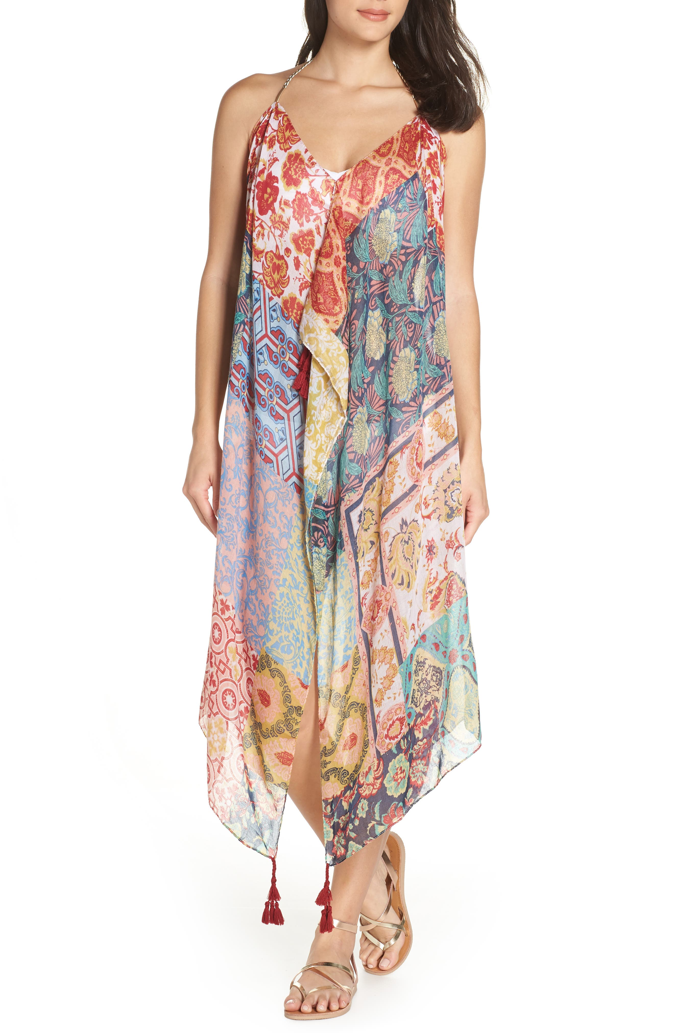 Beach to Street Cover-Up Dress,                             Main thumbnail 1, color,                             MULTI