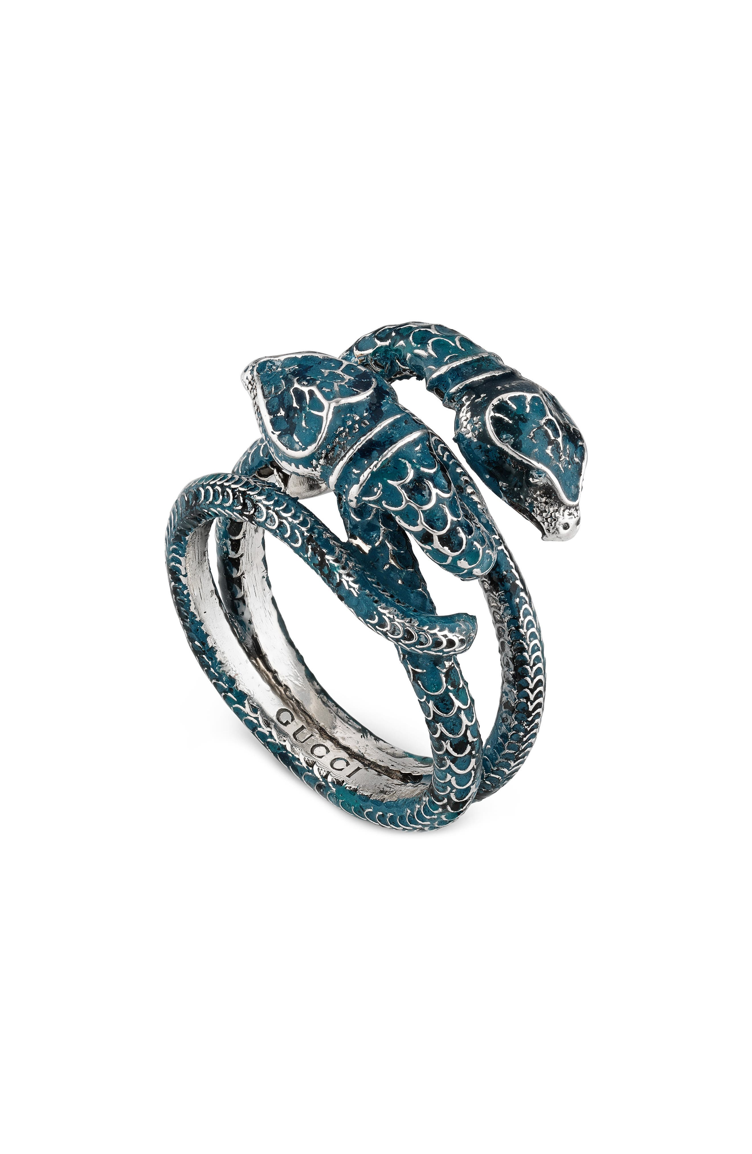 GUCCI,                             Double Snake Ring,                             Main thumbnail 1, color,                             040