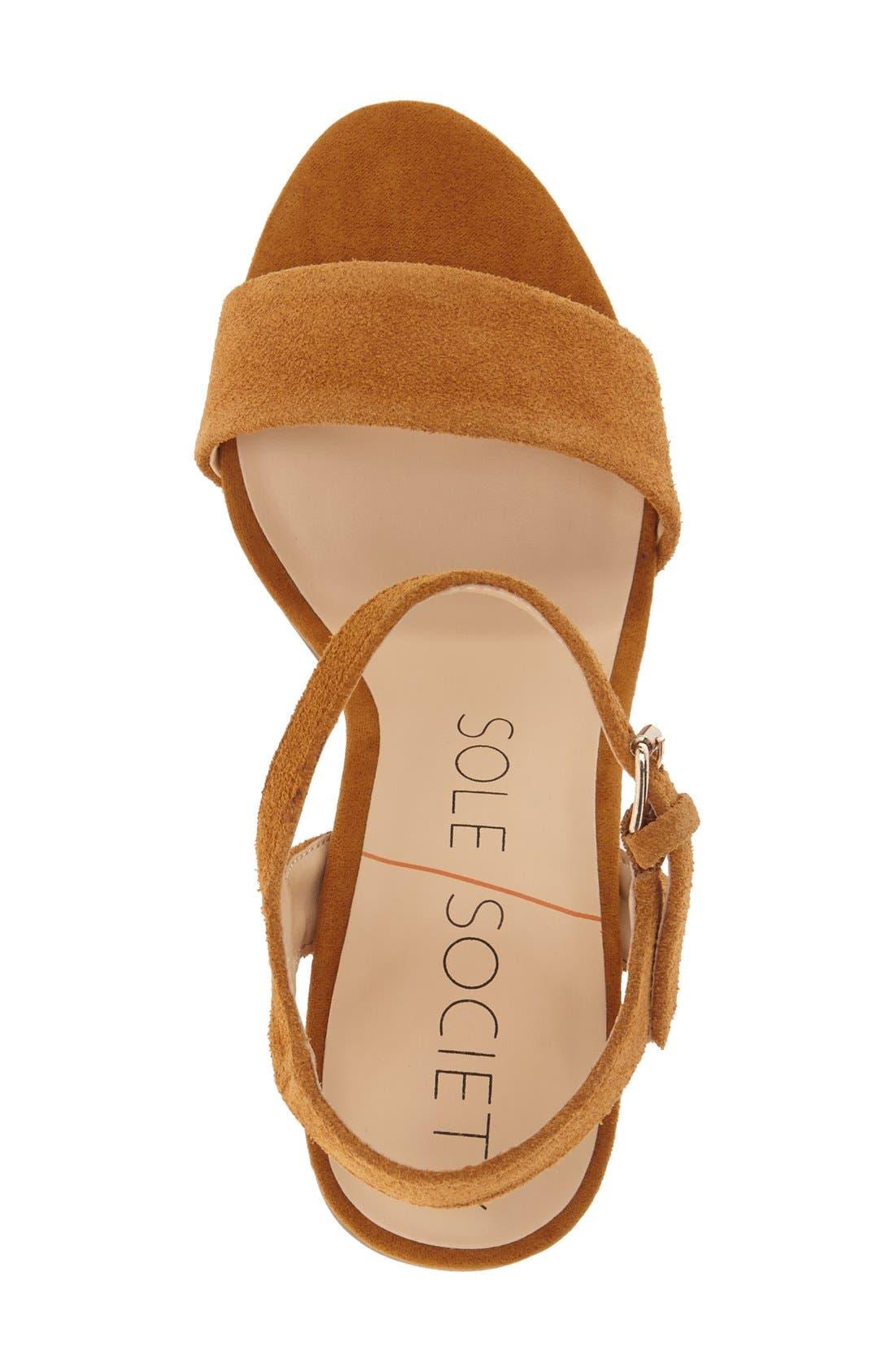 'Linny' Ankle Strap Sandal,                             Alternate thumbnail 9, color,