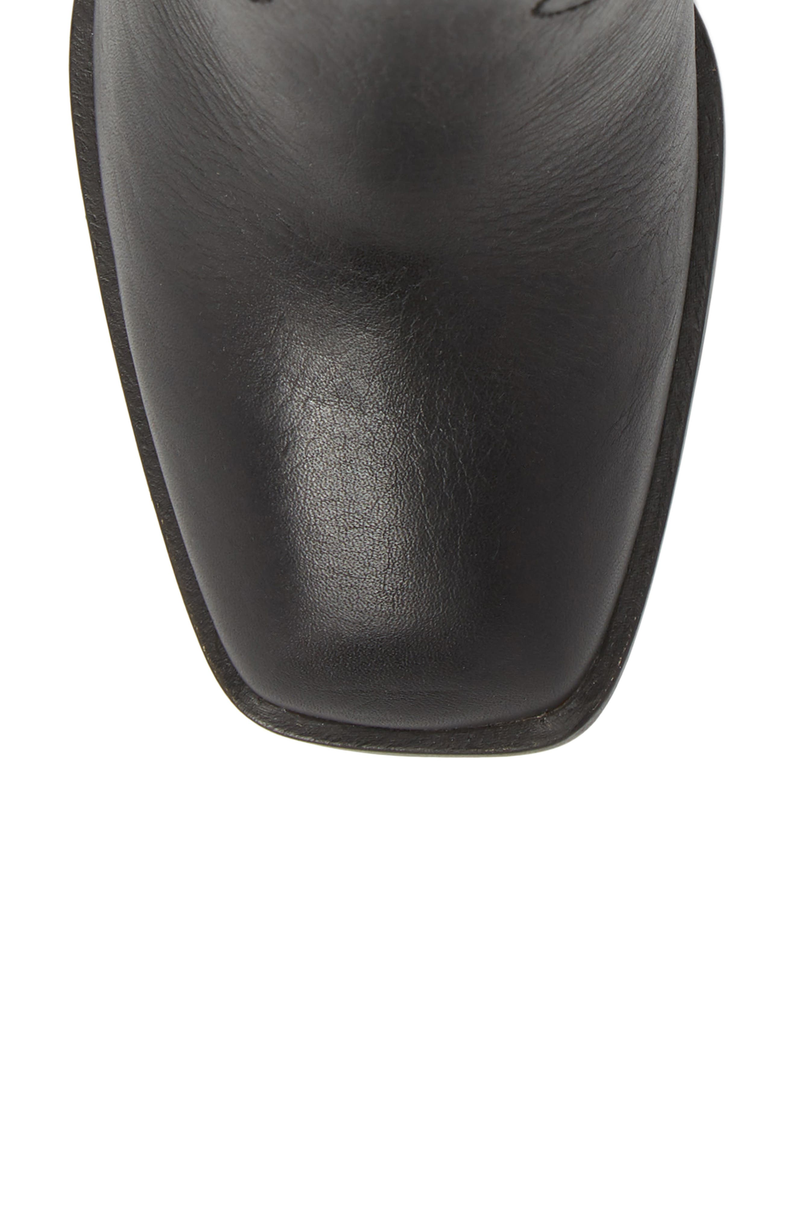 Nero Bootie,                             Alternate thumbnail 5, color,                             BLACK LEATHER