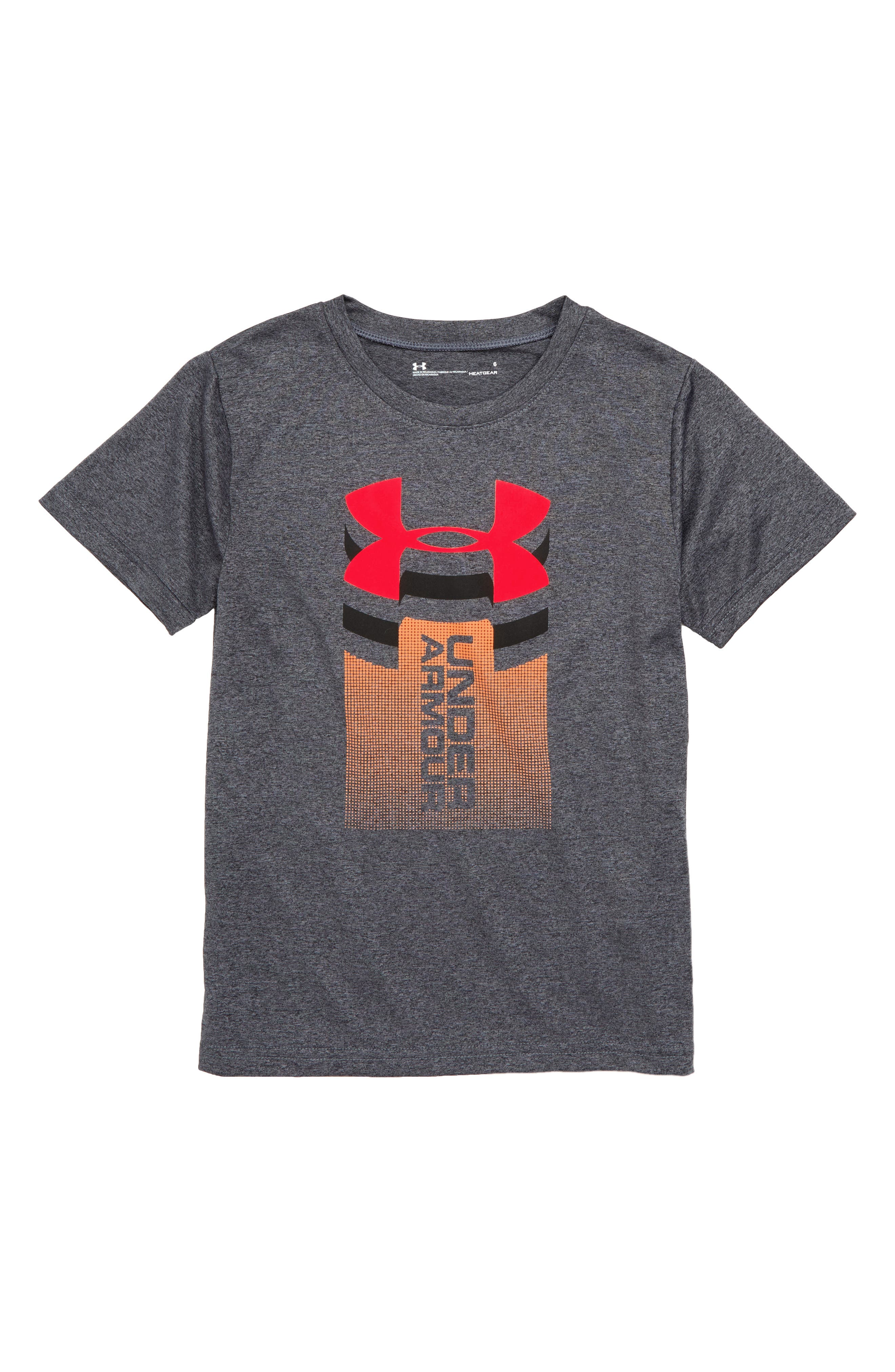 Rising Logo Graphic HeatGear<sup>®</sup> Shirt,                             Main thumbnail 1, color,                             020