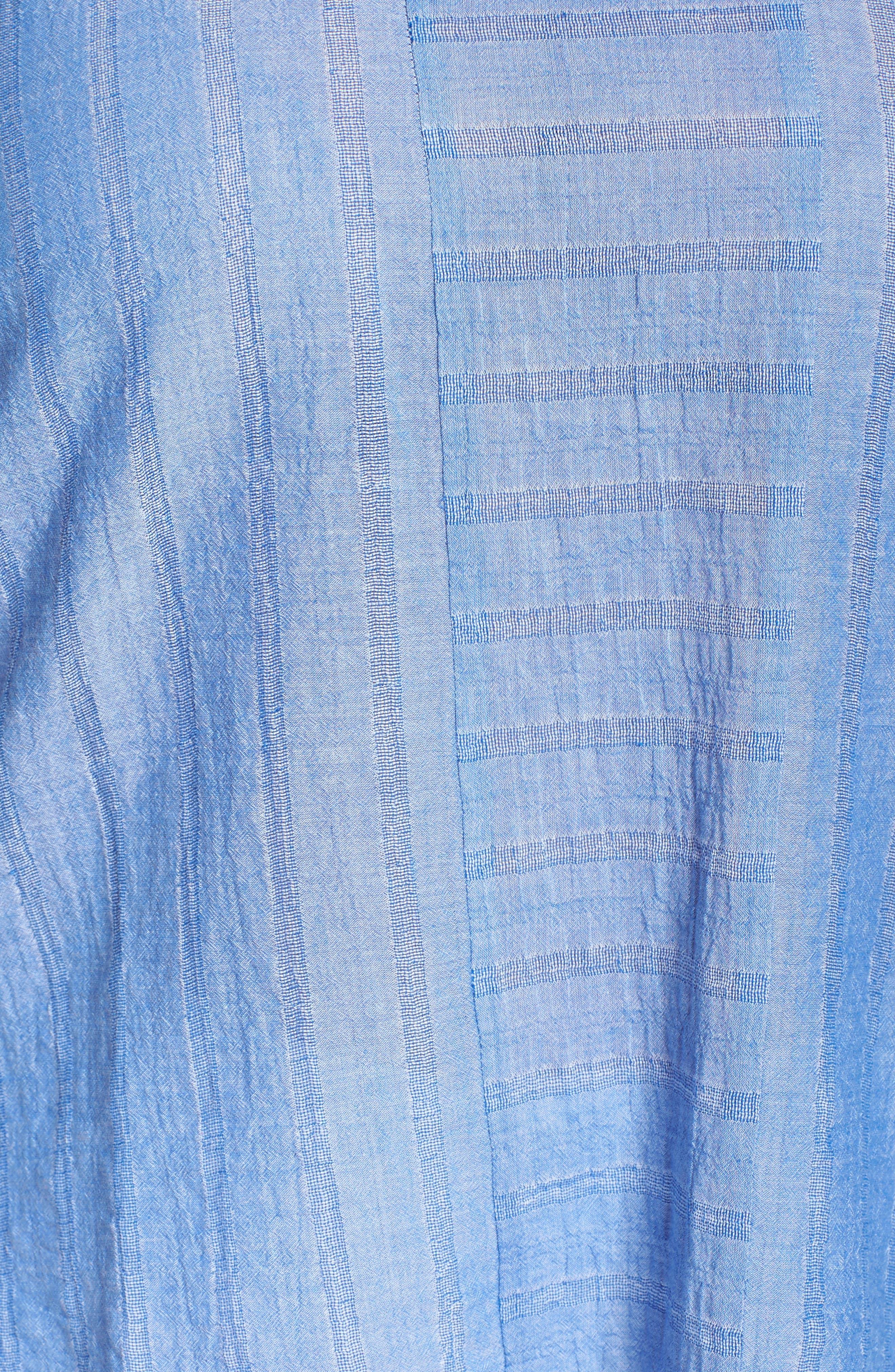 Stripe Gauze Cold Shoulder Top,                             Alternate thumbnail 5, color,                             400