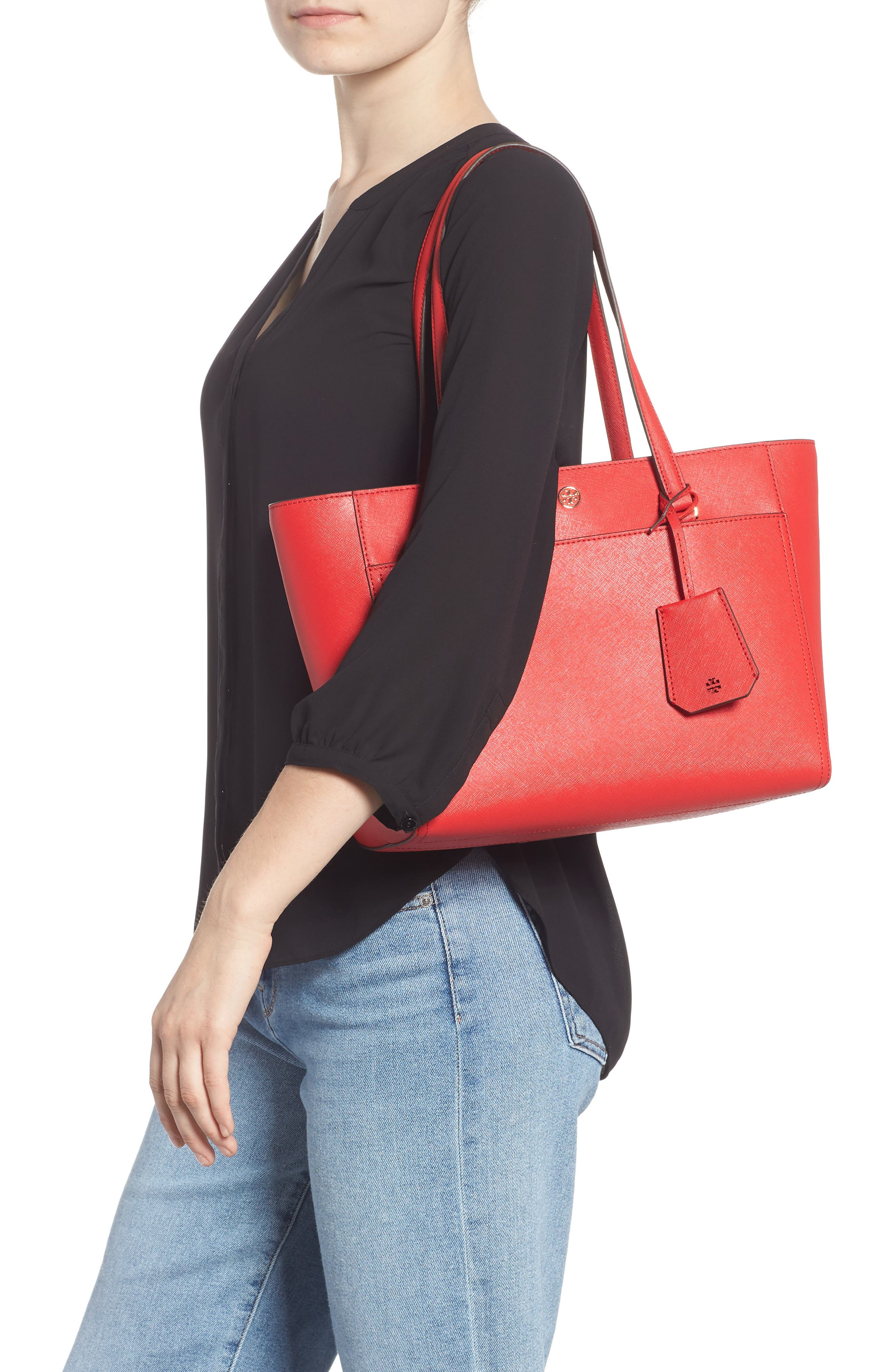 Small Robinson Leather Tote,                             Alternate thumbnail 2, color,                             600