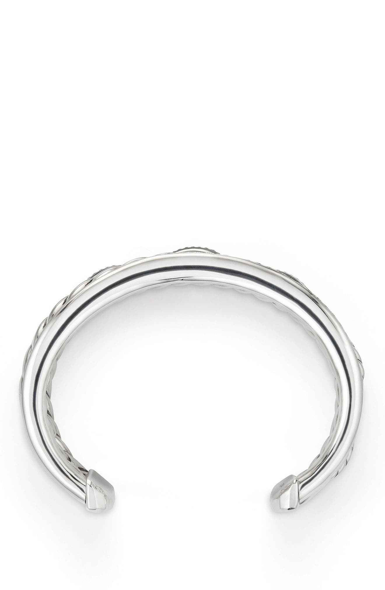 Wellesley Link Cuff with Diamonds, 27mm,                             Alternate thumbnail 2, color,                             SILVER
