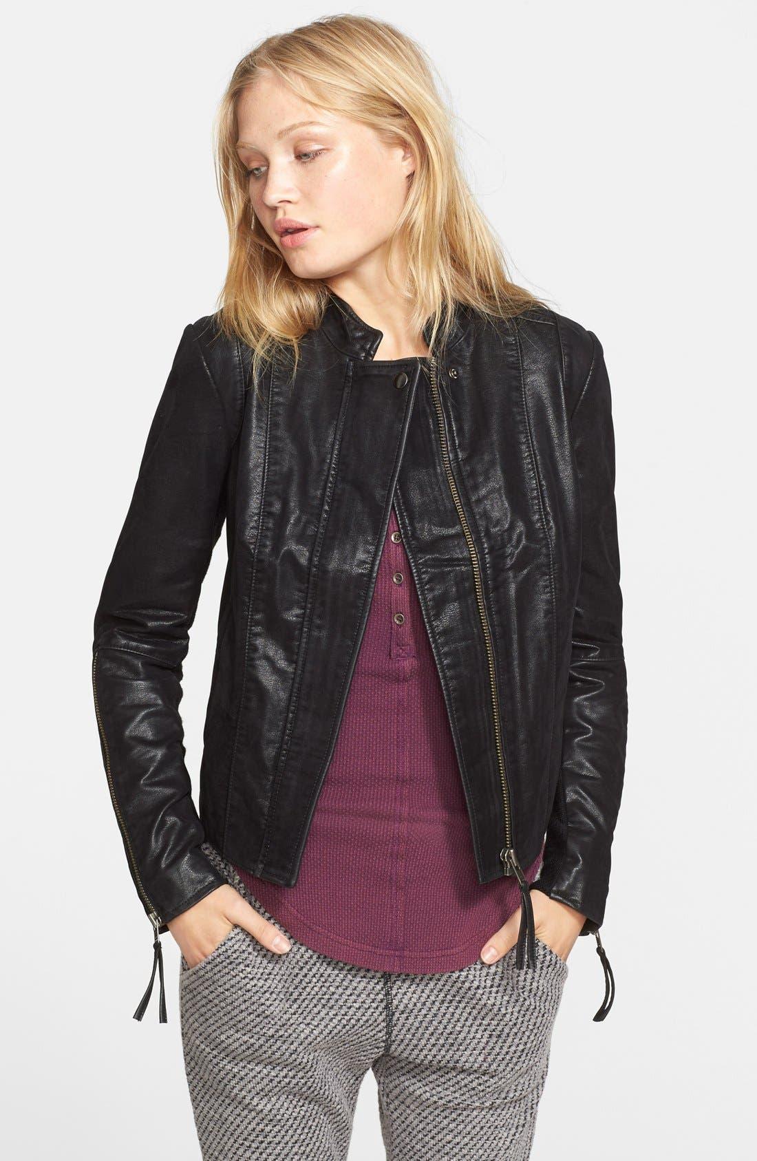 Faux Leather Jacket,                             Main thumbnail 2, color,