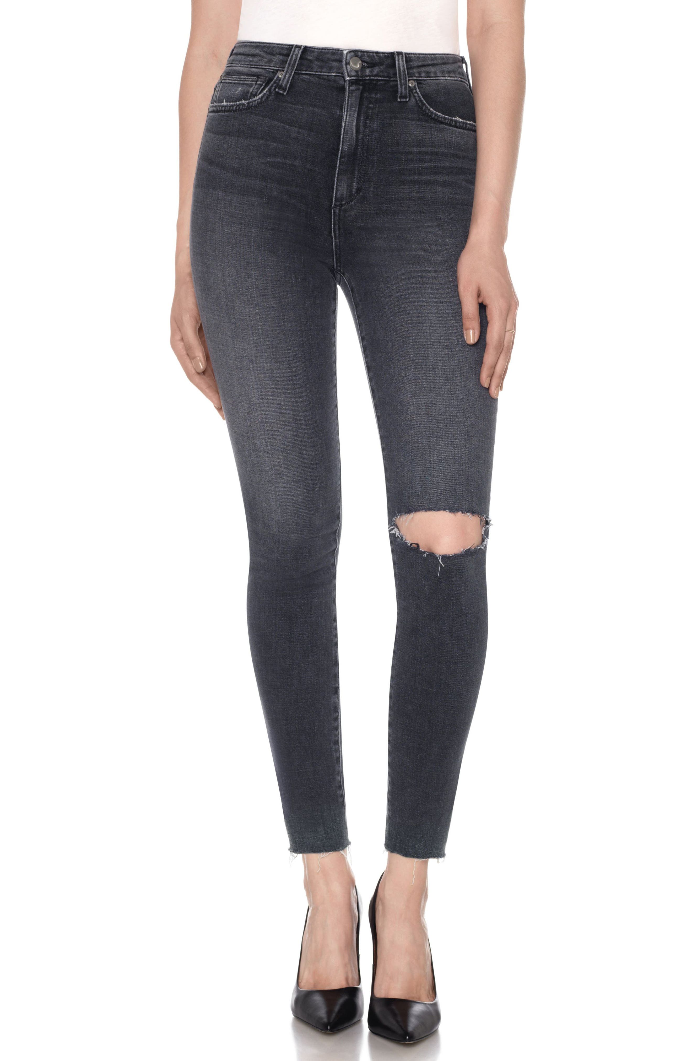 Charlie High Waist Ankle Skinny Jeans,                             Main thumbnail 1, color,                             010