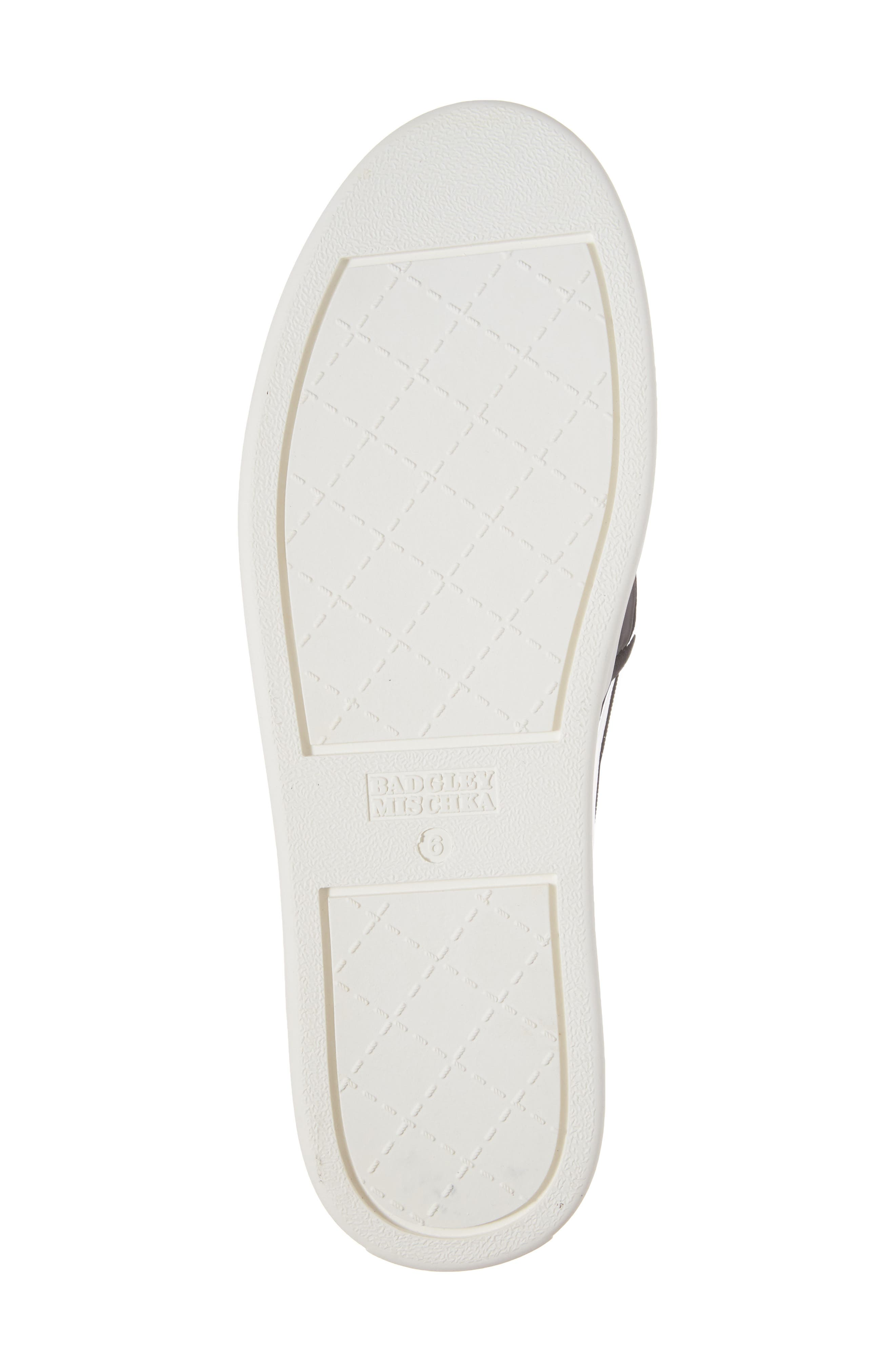 Badgley Mischka Barre Crystal Embellished Slip-On Sneaker,                             Alternate thumbnail 6, color,                             011