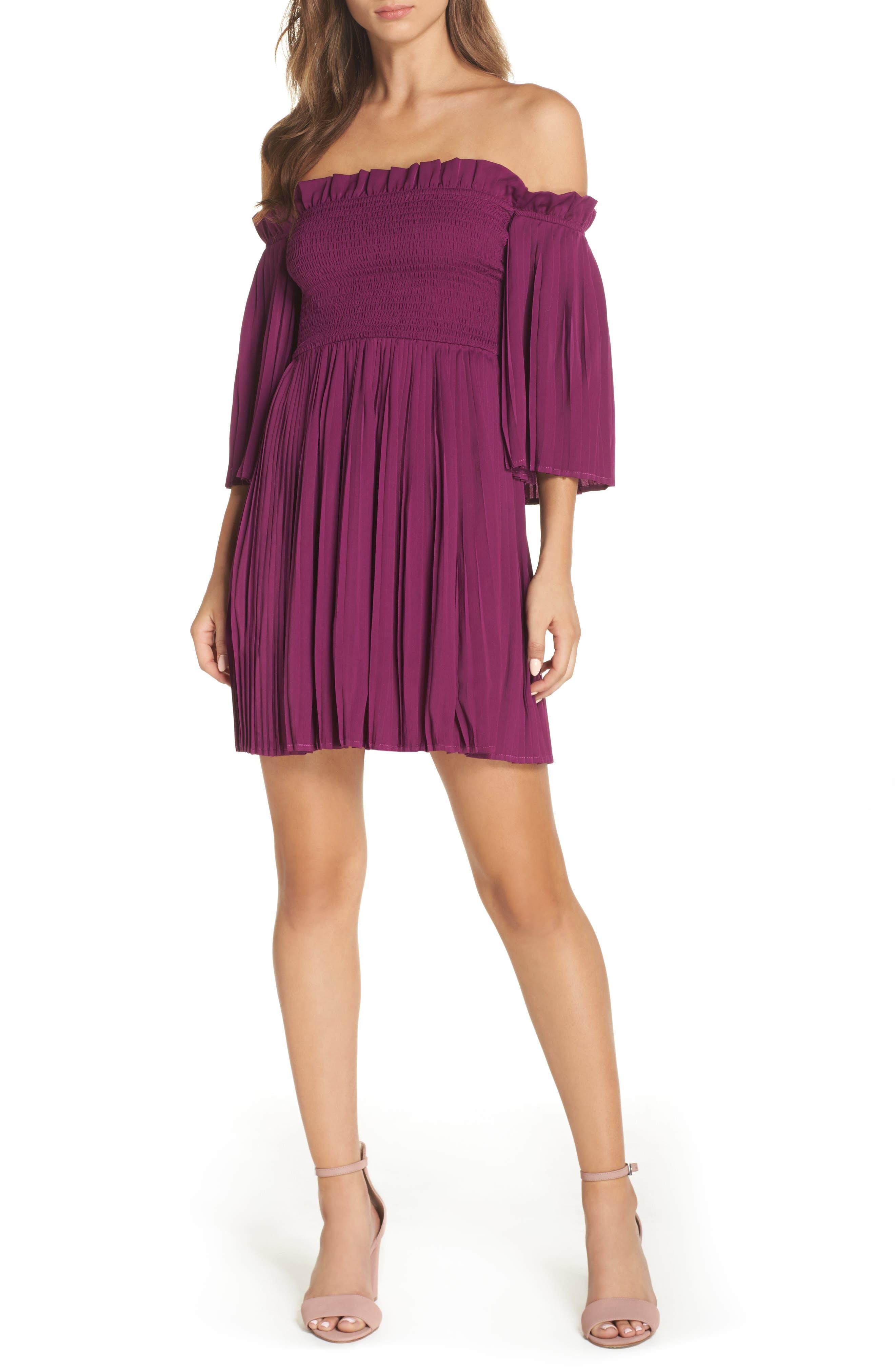 Le Flirt Off the Shoulder Minidress,                         Main,                         color,