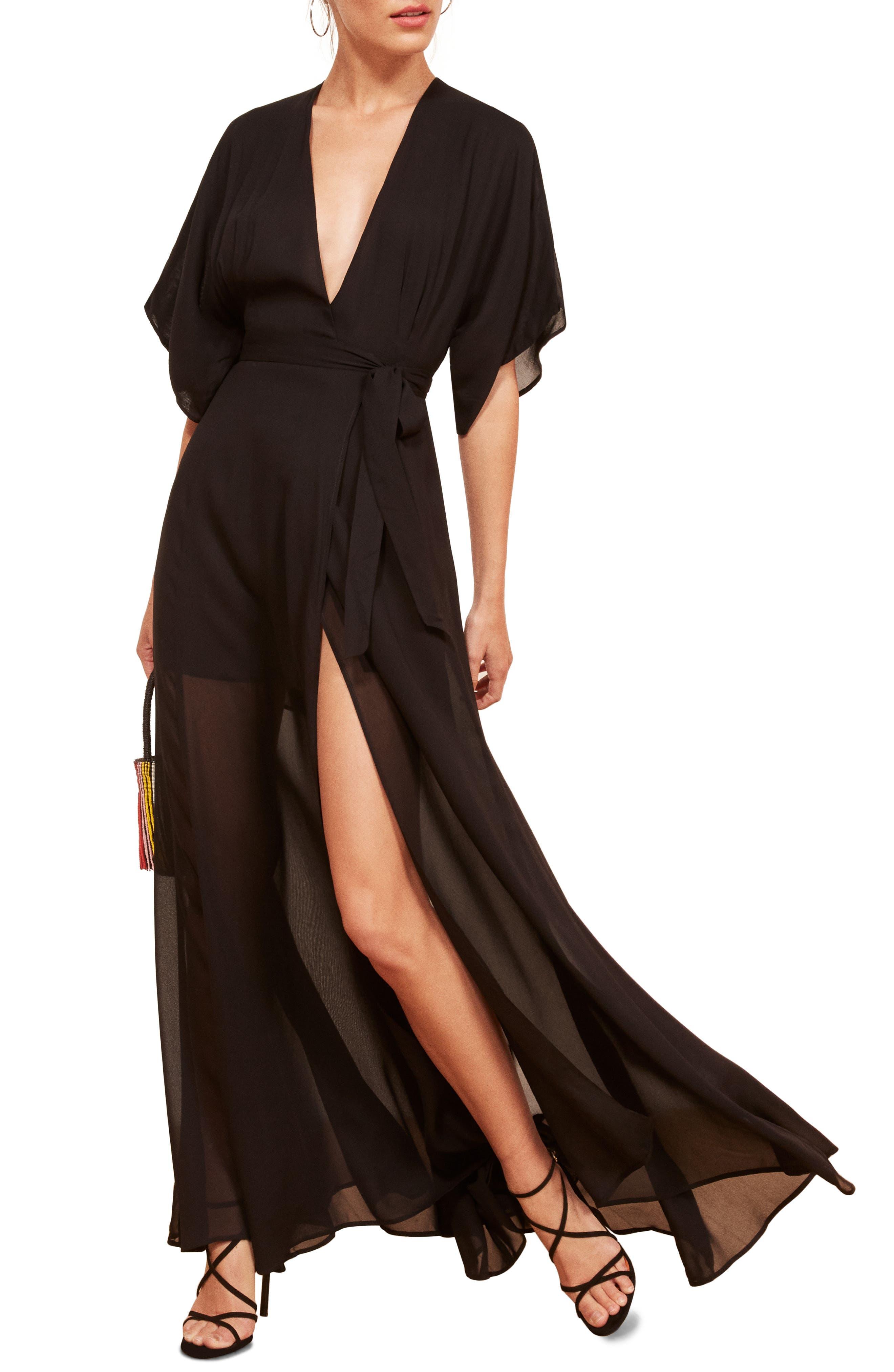 Winslow Maxi Dress,                             Alternate thumbnail 7, color,                             BLACK