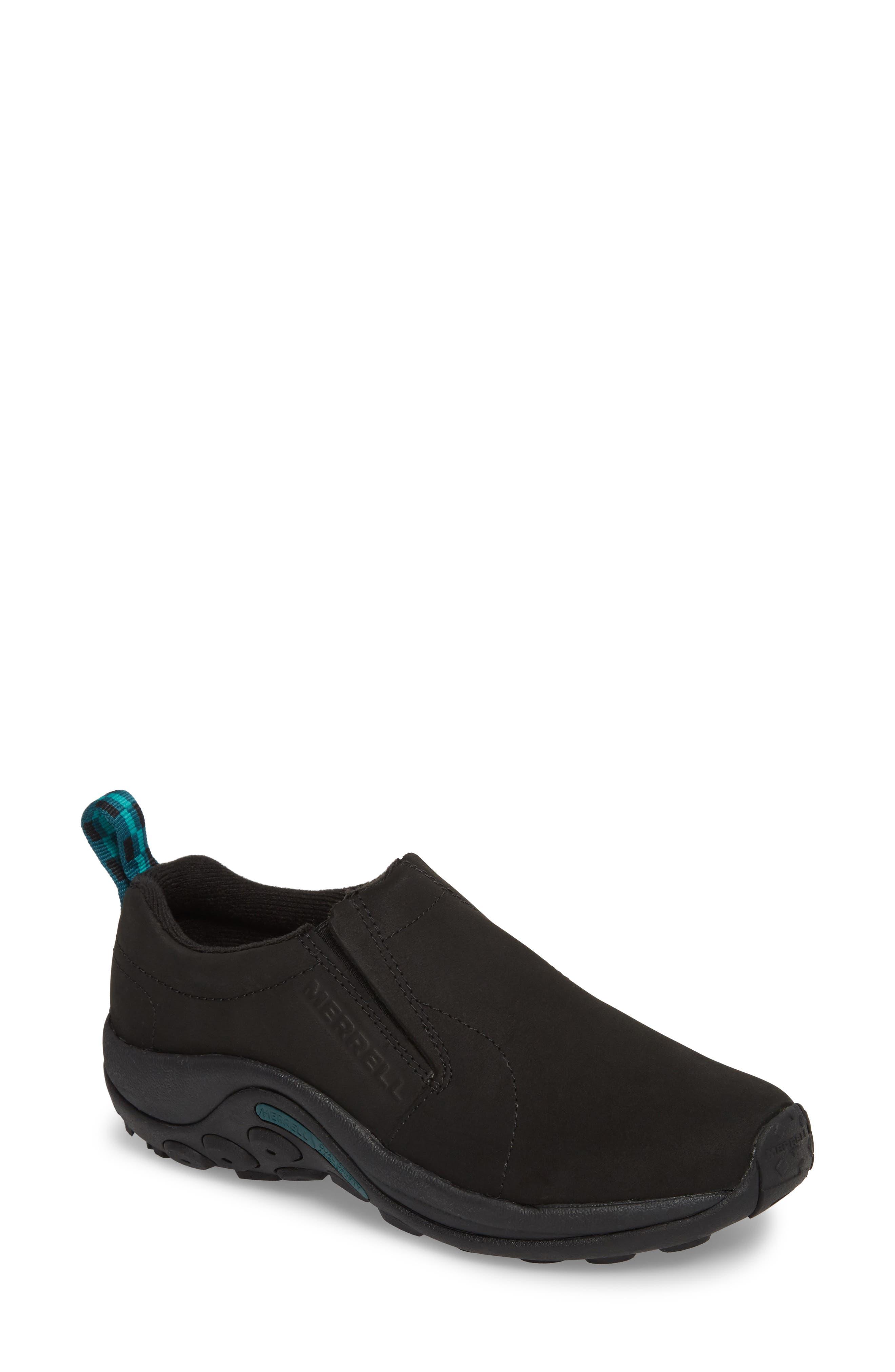 Jungle Moc Nubuck Sneaker,                             Main thumbnail 1, color,                             BLACK LEATHER