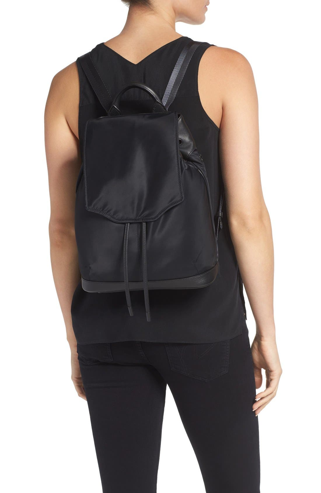 RAG & BONE,                             'Pilot' Nylon Backpack,                             Alternate thumbnail 2, color,                             002