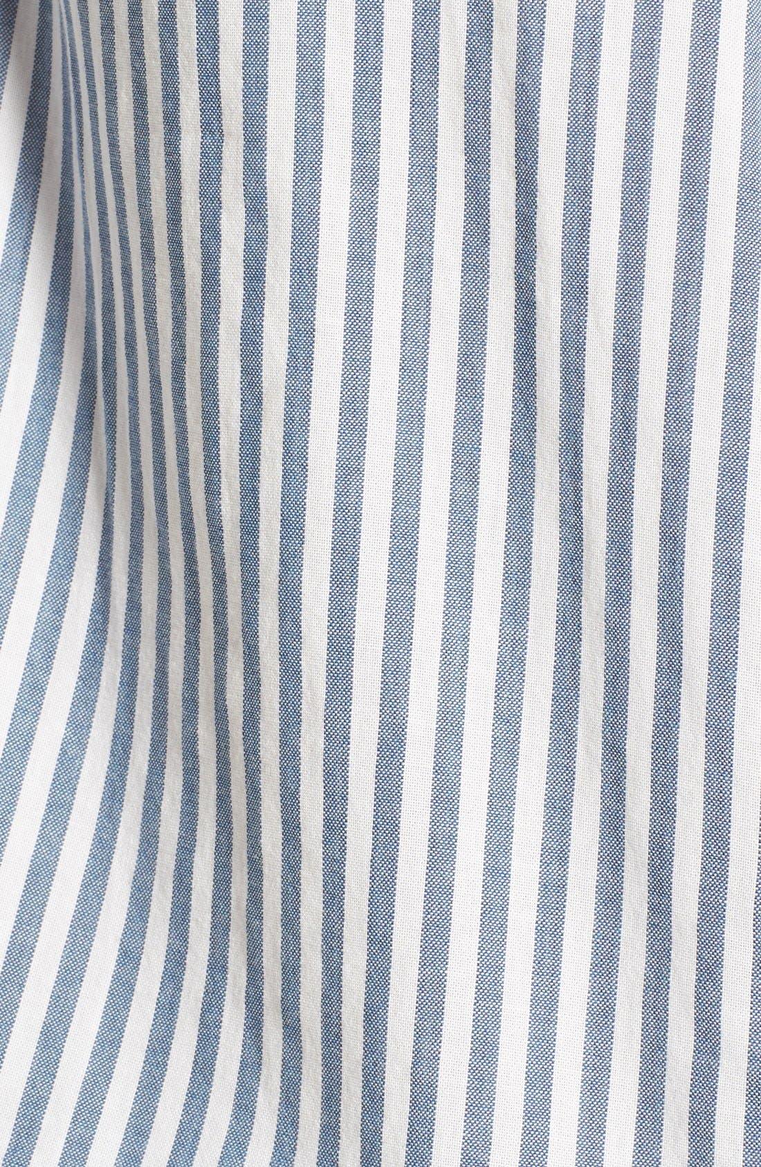'Central' Stripe Cotton Shirt,                             Alternate thumbnail 2, color,                             495