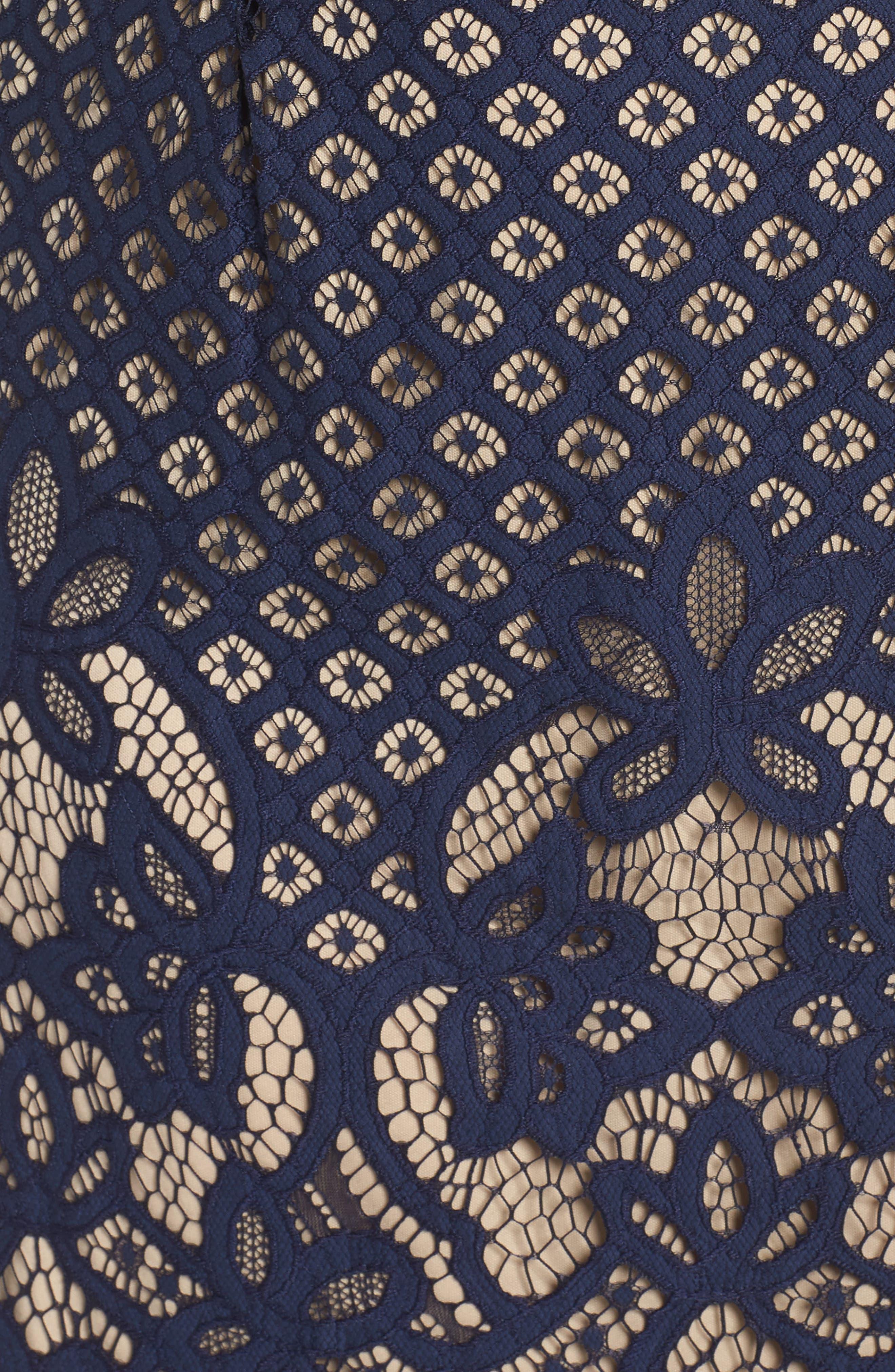 Lace Sheath Dress,                             Alternate thumbnail 5, color,                             410
