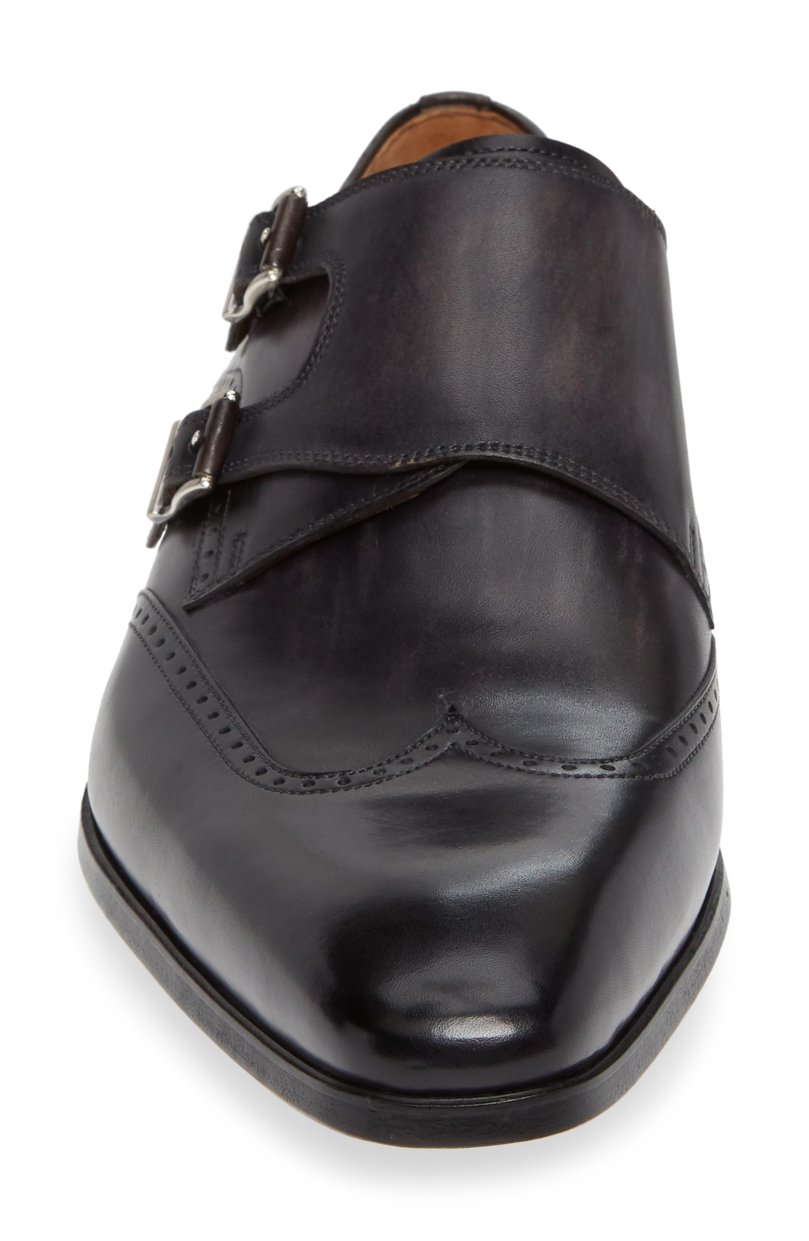 Dixon Wingtip Double Strap Monk Shoe,                             Alternate thumbnail 4, color,                             GREY