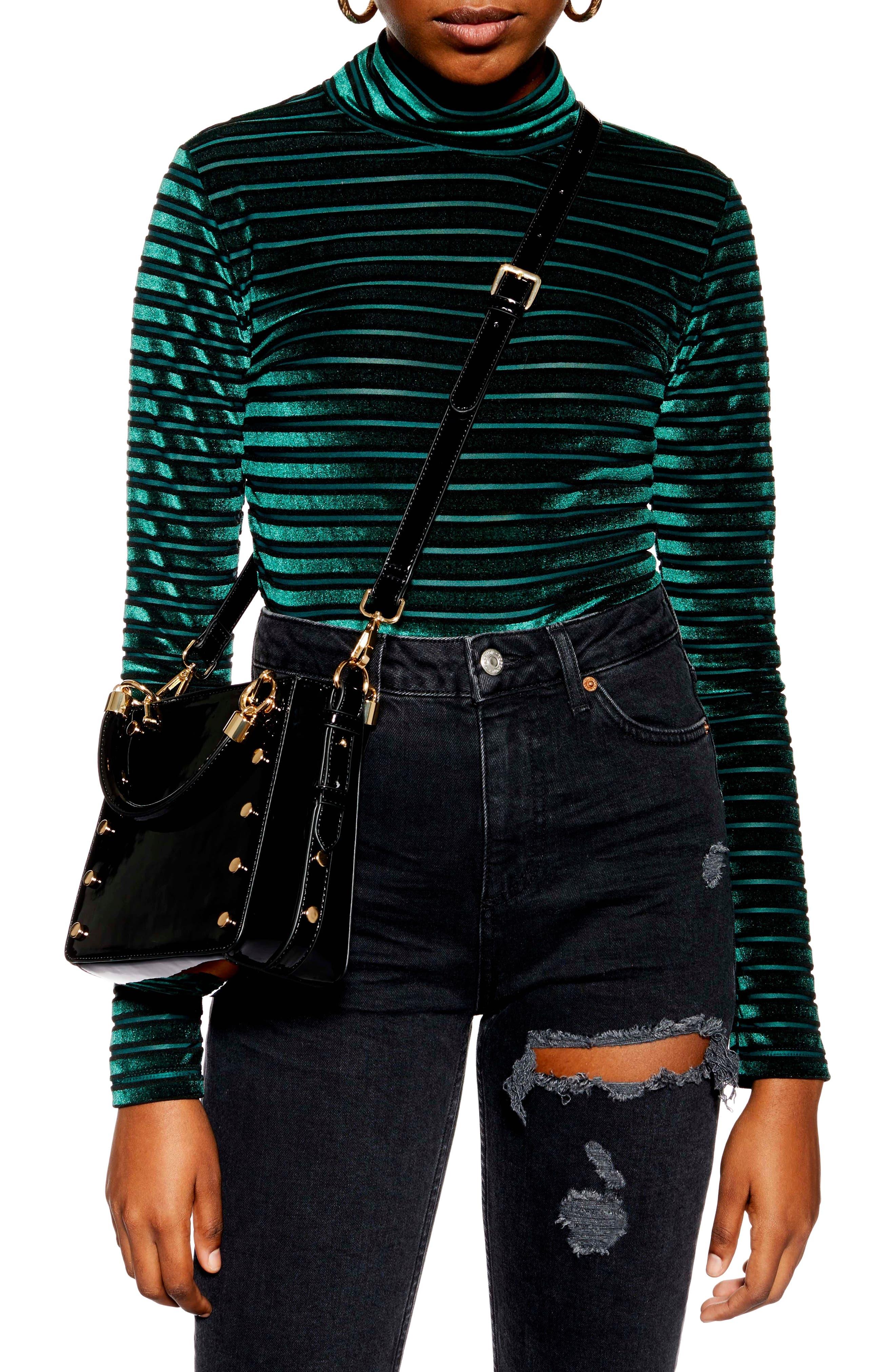 Courtney Studded Crossbody Bag,                             Alternate thumbnail 2, color,                             BLACK MULTI