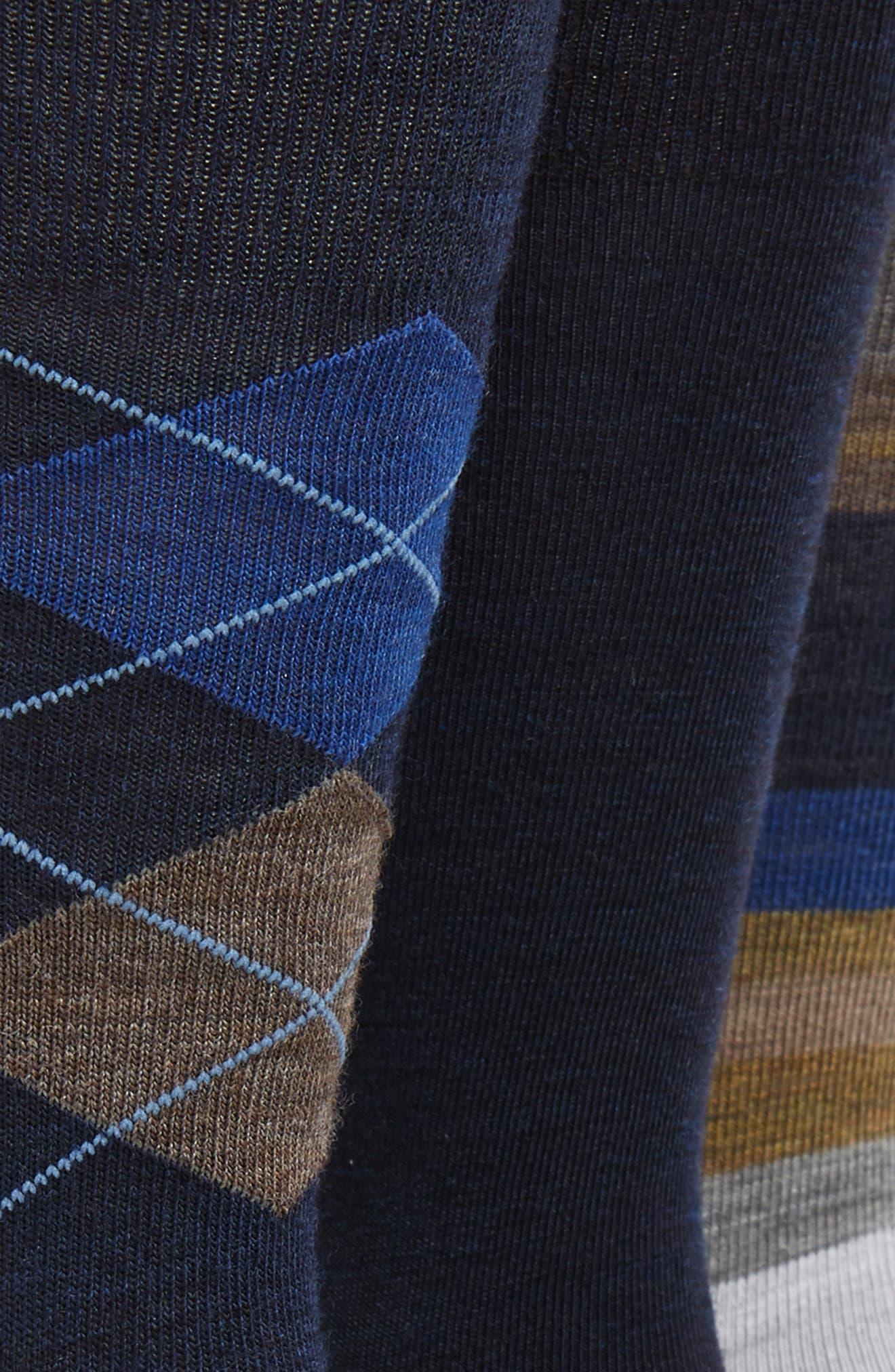 3-Pack Socks,                             Alternate thumbnail 2, color,                             400