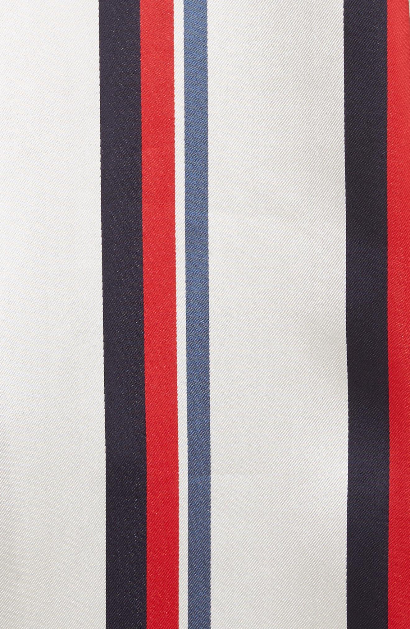 Stripe Off the Shoulder Blouse,                             Alternate thumbnail 5, color,