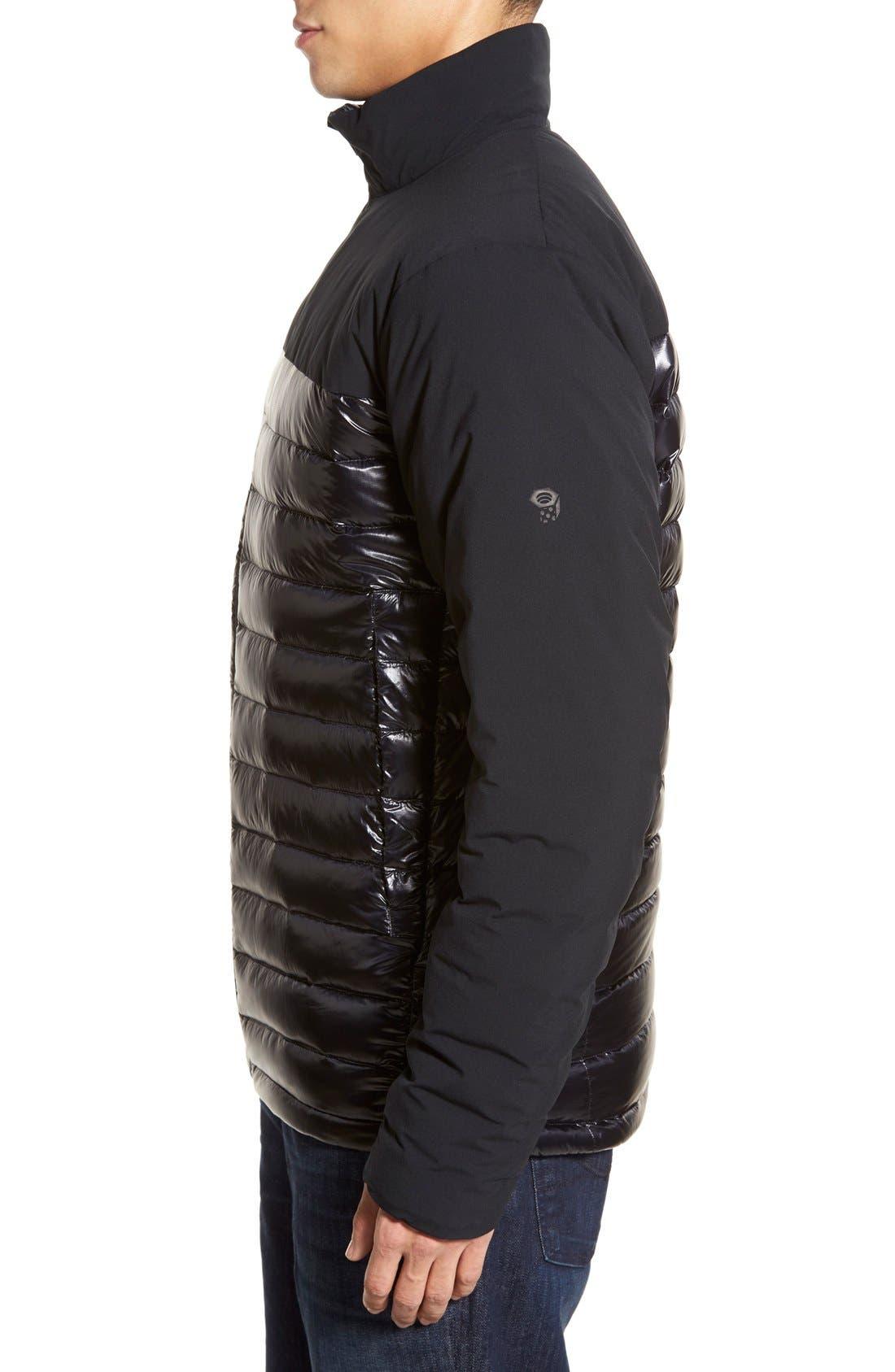 Cole Haan + Mountain Hardwear 'ZeroGrand' Quilted Down Commuter Jacket,                             Alternate thumbnail 3, color,                             001