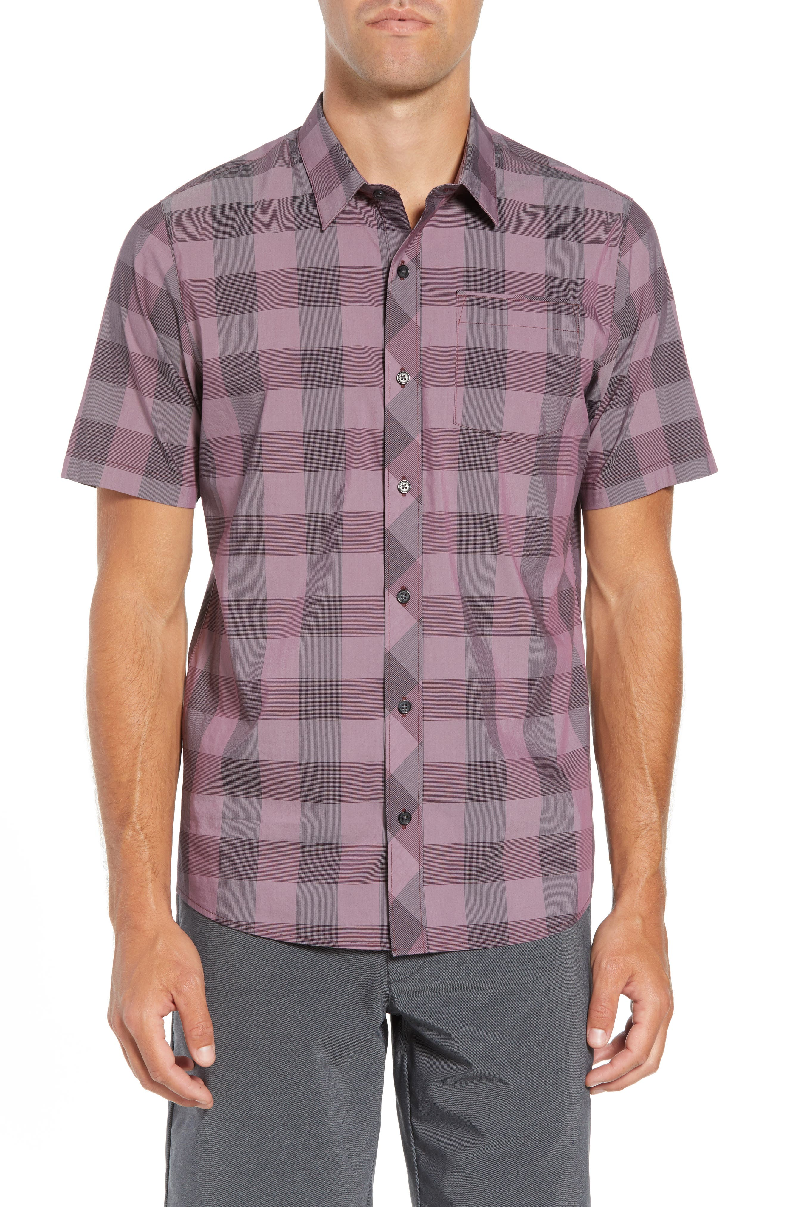 Travis Mathew Buffalo Regular Fit Sport Shirt, Red