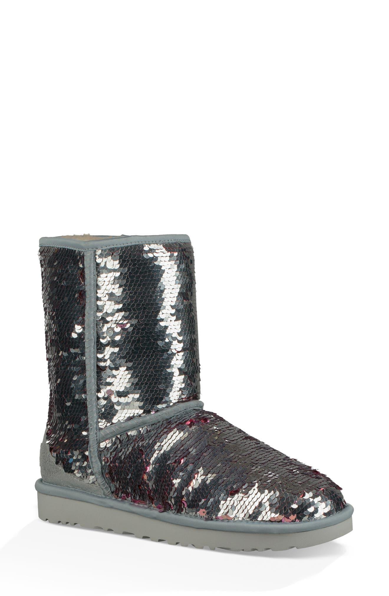 Ugg Classic Short Sequin Boot, Metallic